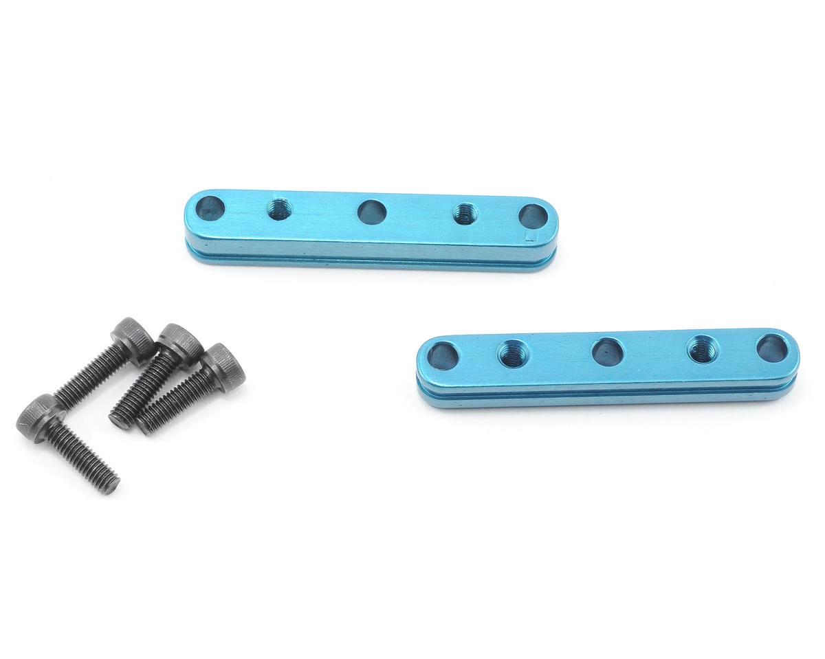 Xtreme Racing XRAY XB808 Quick Change Motor Mount Adapters (Blue) (2)