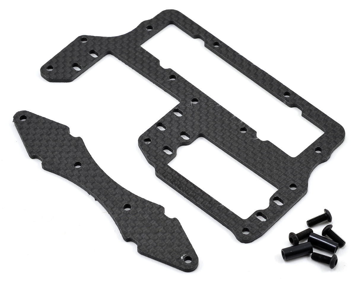 Xtreme Racing Carbon Fiber Battery Forward Servo Tray Kit (Black)