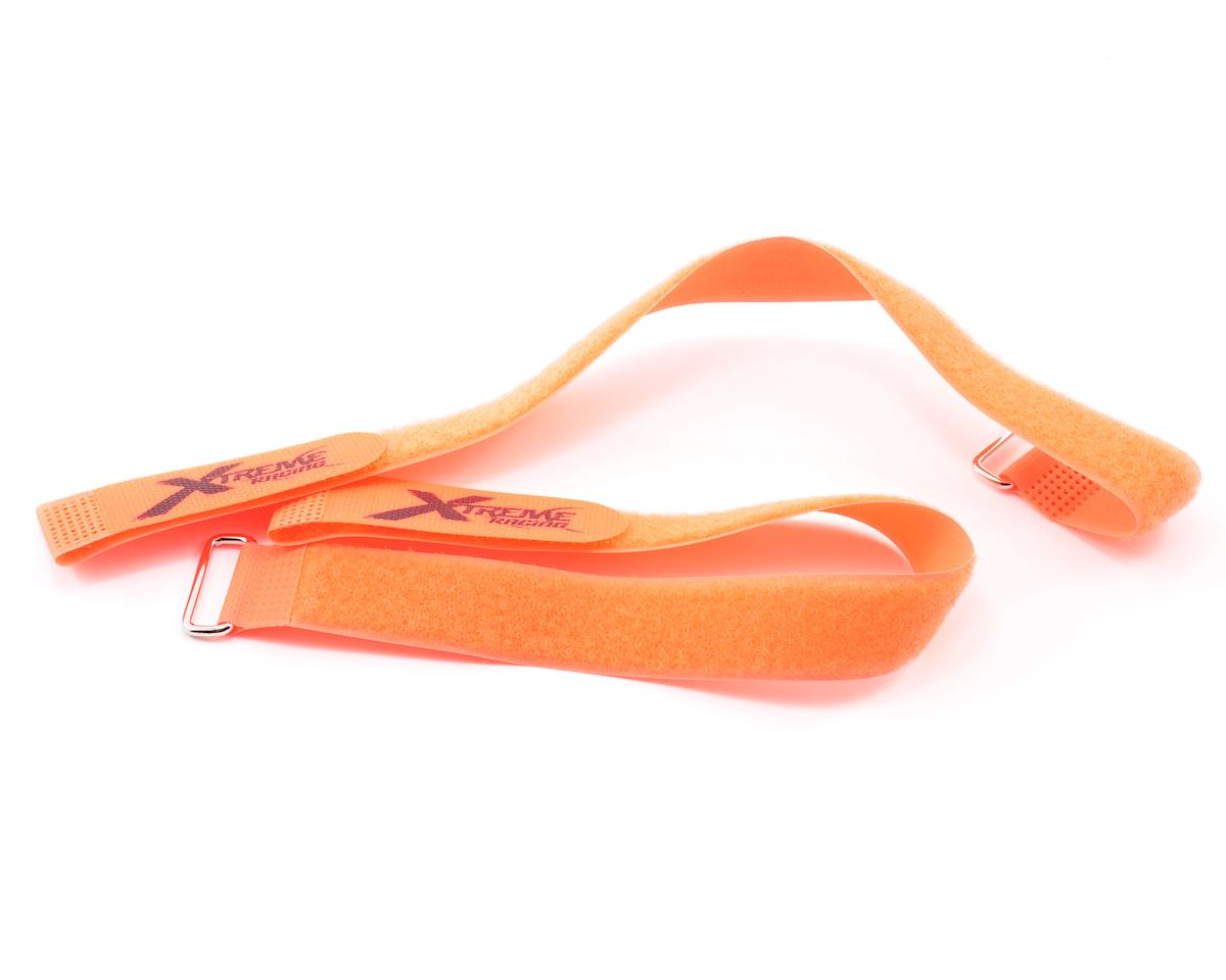 "Xtreme Racing 1x18"" Orange Battery Straps (2)"