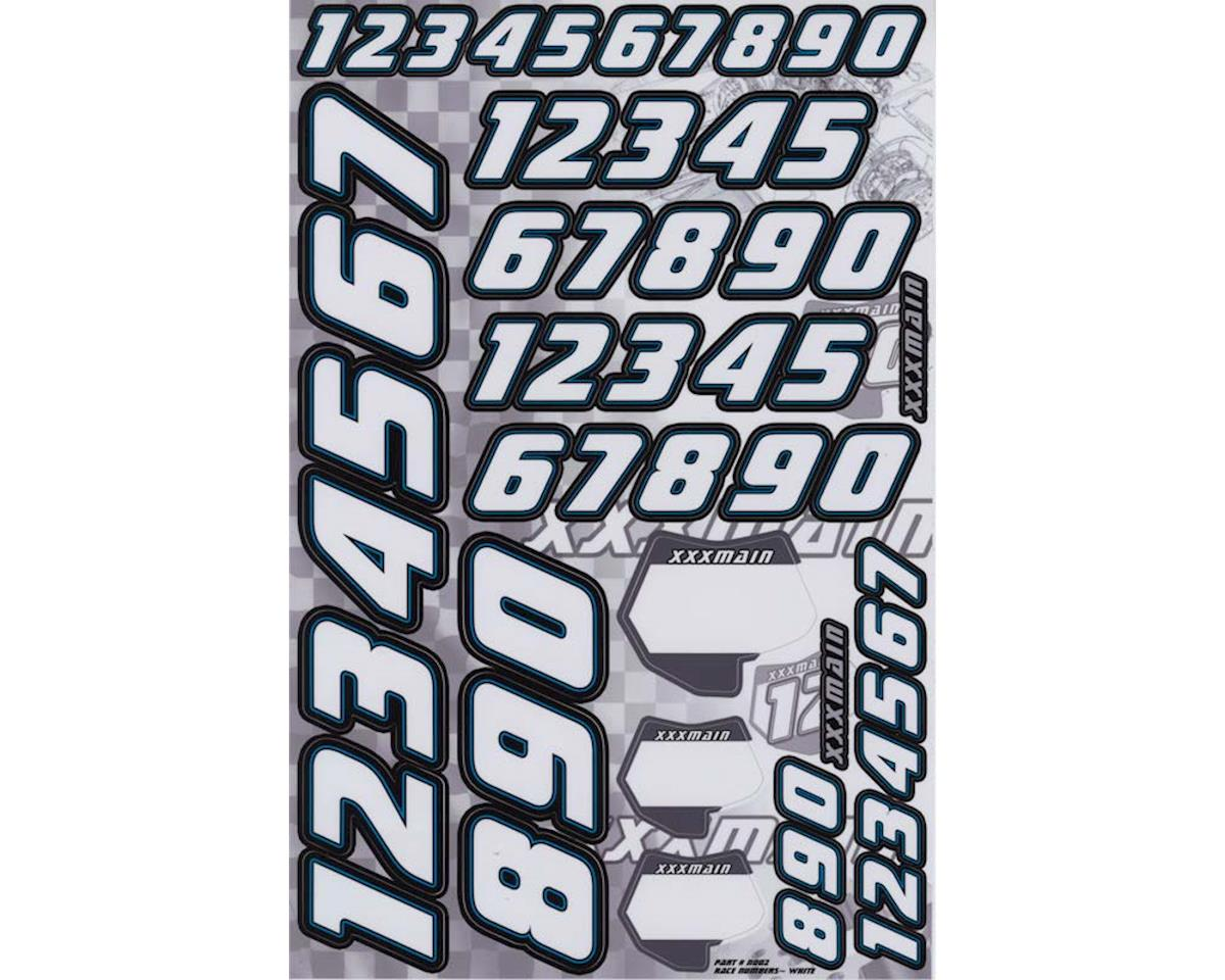 XXX Main Decals Race Number White