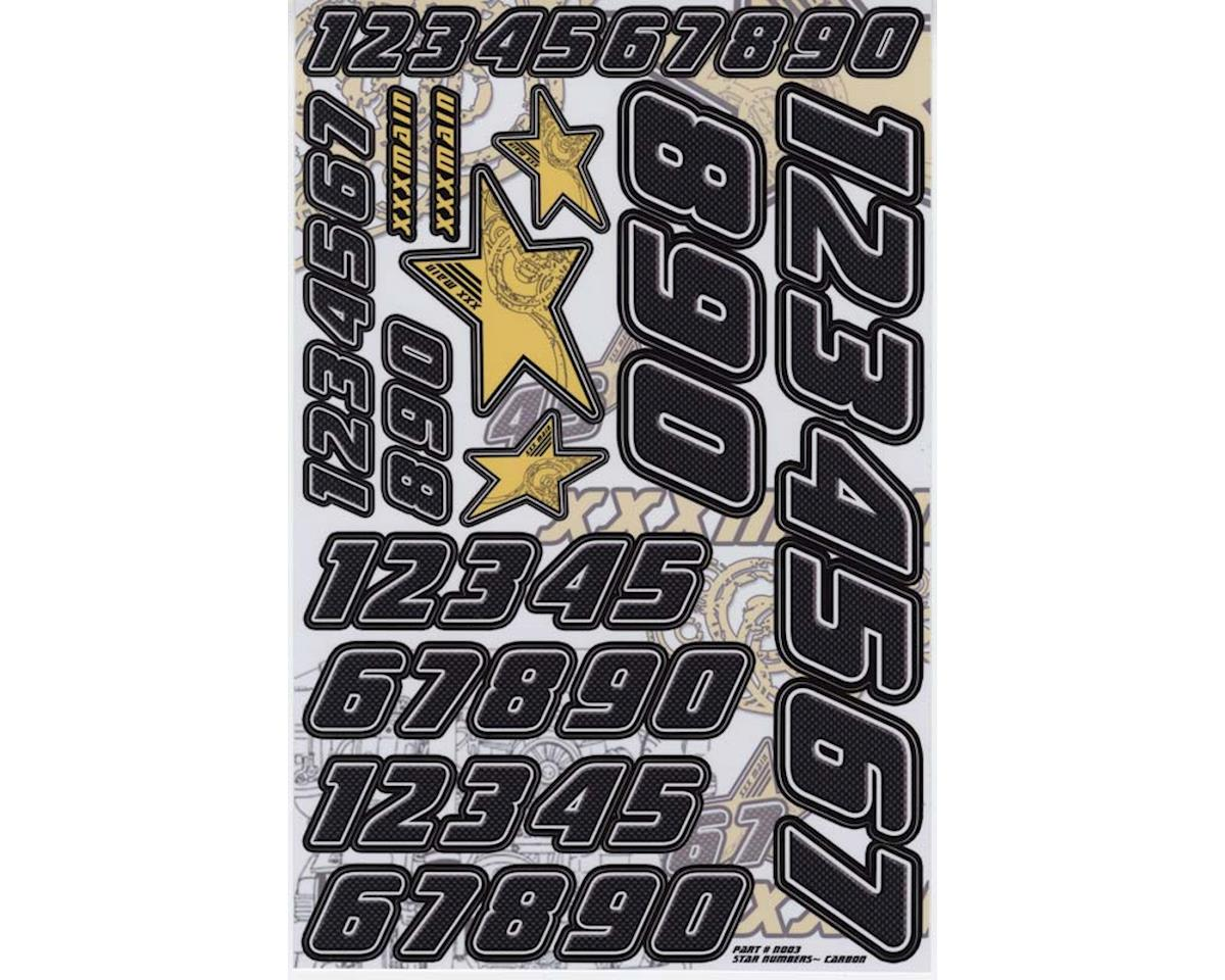 XXX Main Decals Carbon Star Number