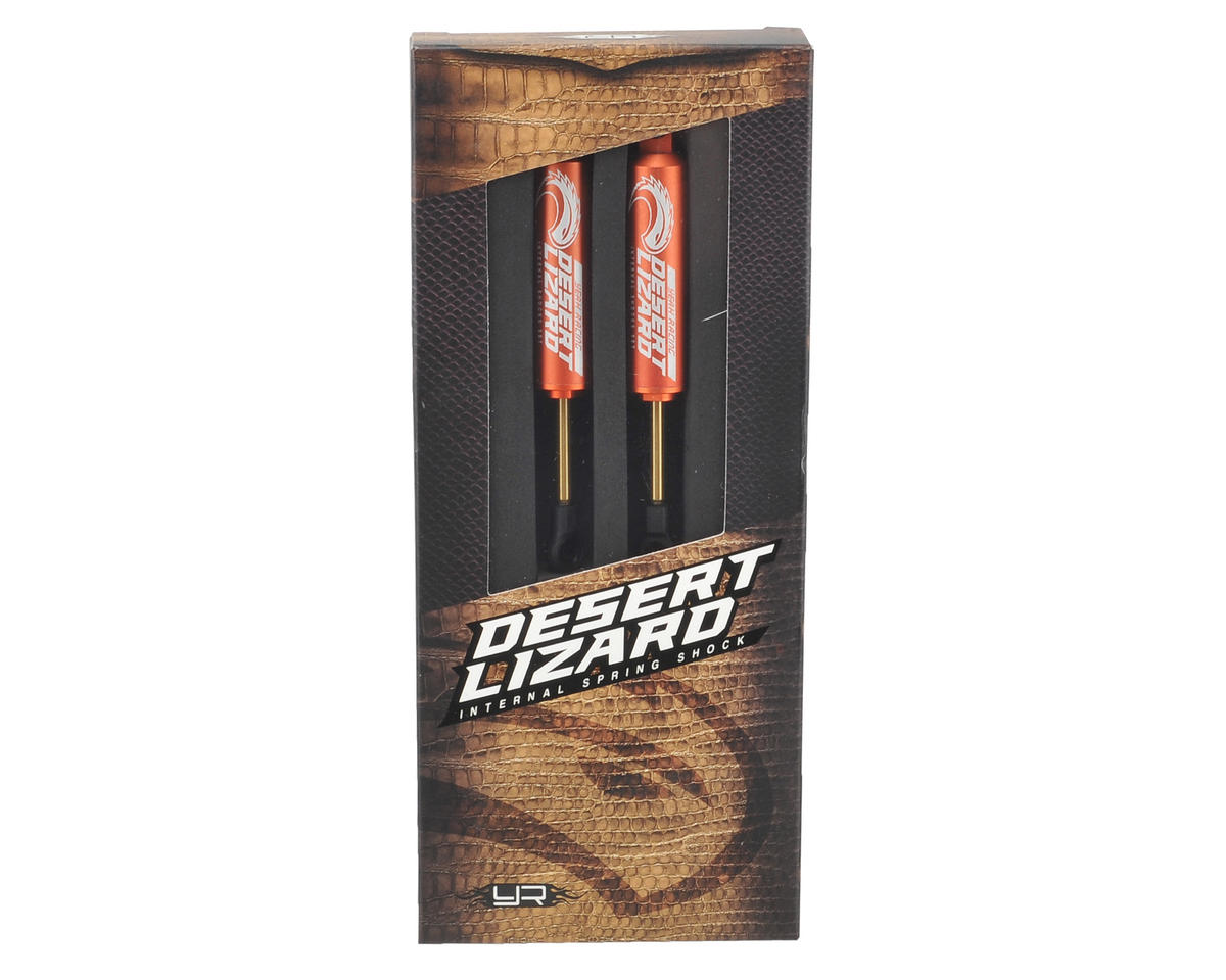 Yeah Racing 90mm Desert Lizard Two Stage Internal Spring Shock (2) (Orange)