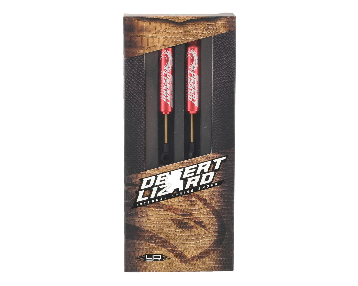 Yeah Racing 90mm Desert Lizard Two Stage Internal Spring Shock (2) (Red)