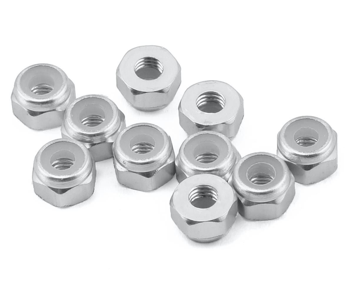 Yeah Racing 3mm Aluminum Lock Nut (10) (Silver)