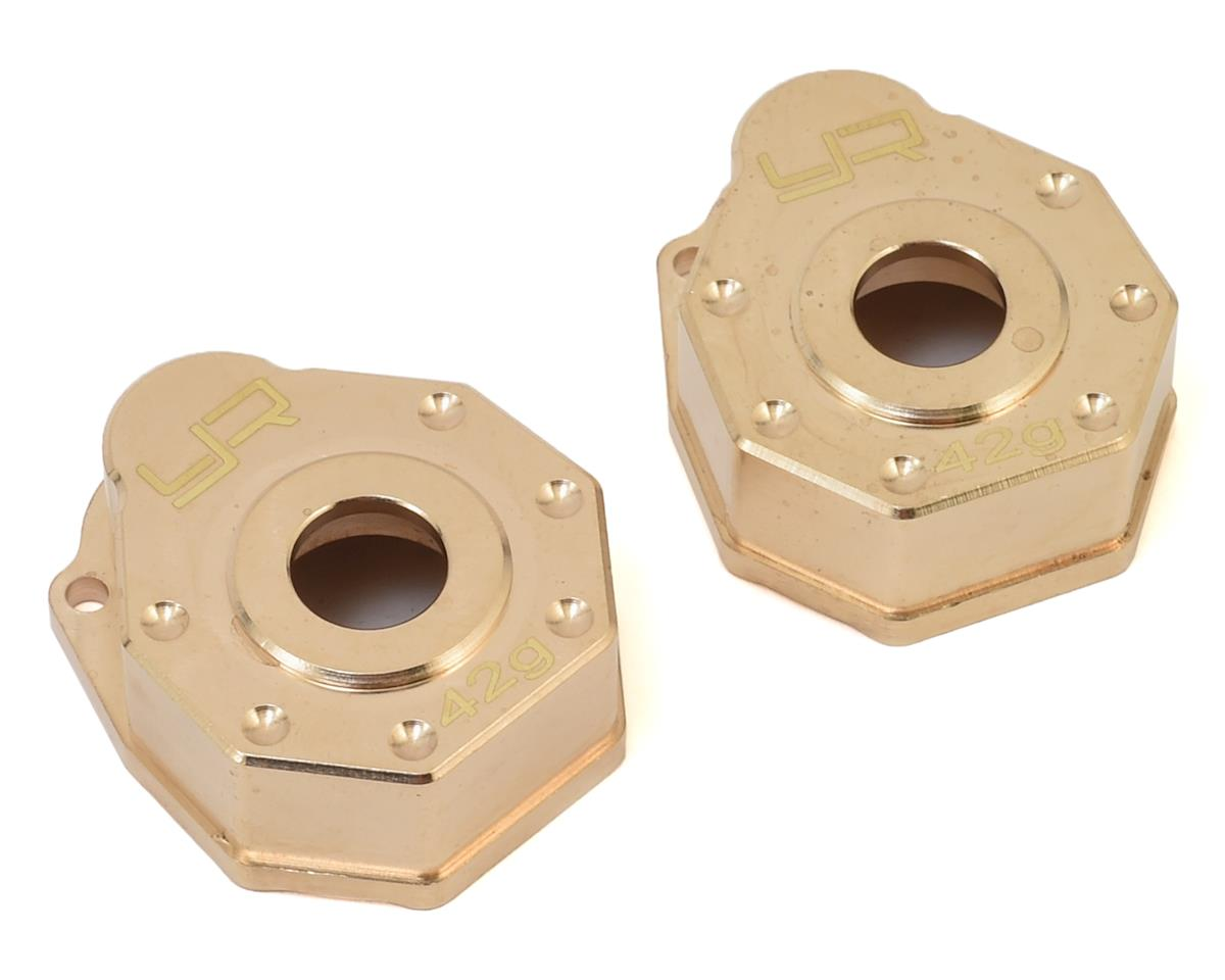 Traxxas TRX-4 Brass Portal Cover Set (2) by Yeah Racing