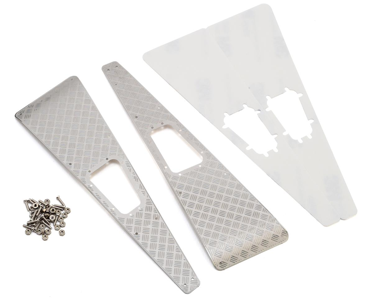 Yeah Racing Traxxas TRX-4 Stainless Steel Diamond Plate Front Hood Panels