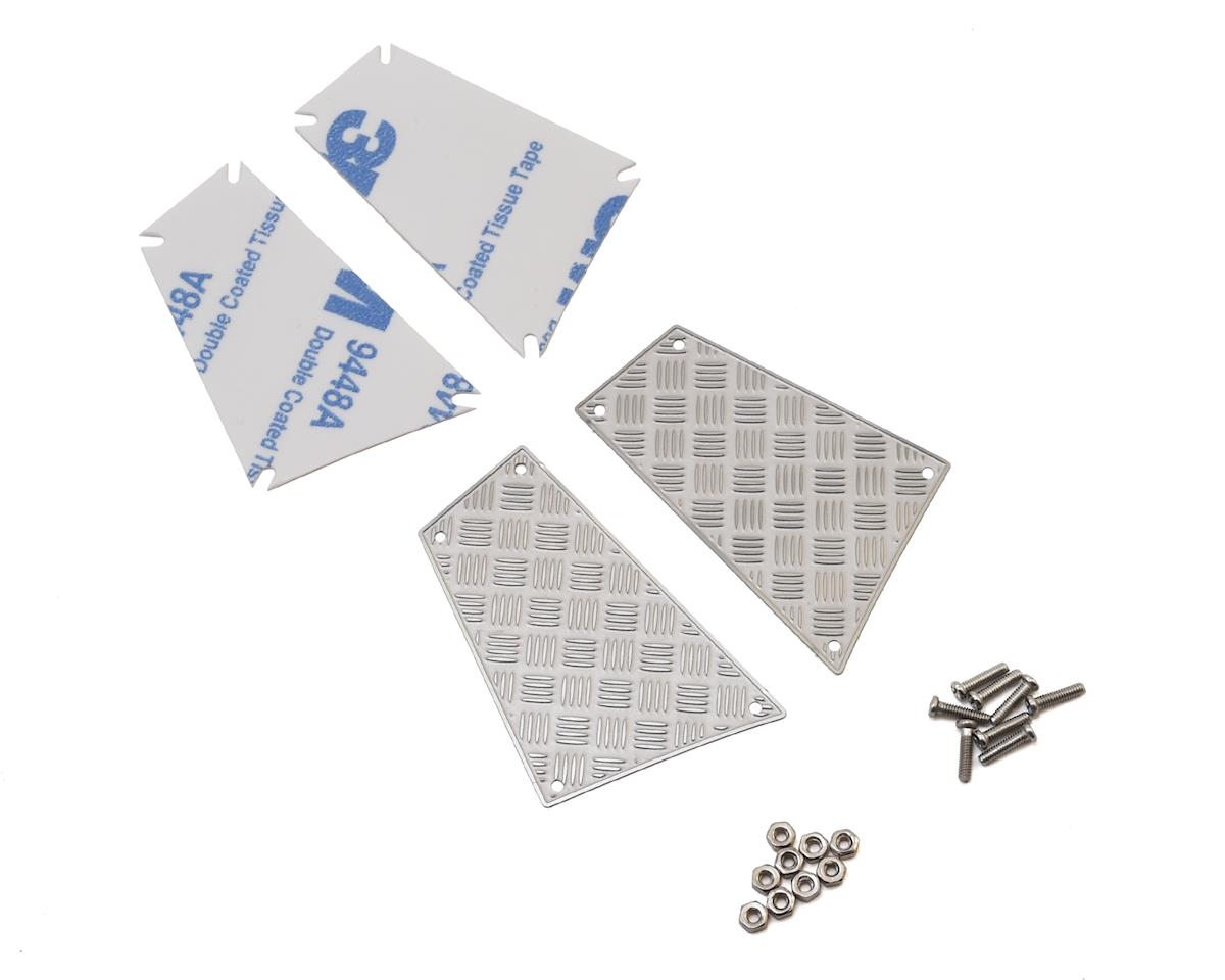 Traxxas TRX-4 Stainless Steel Diamond Plate Rear Side Panels by Yeah Racing
