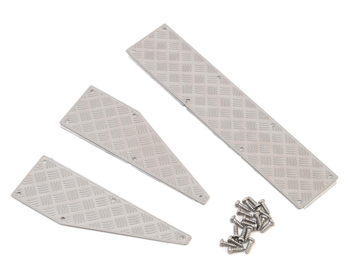 Yeah Racing Traxxas TRX-4 Stainless Steel Diamond Plate Rear Bumper Panels