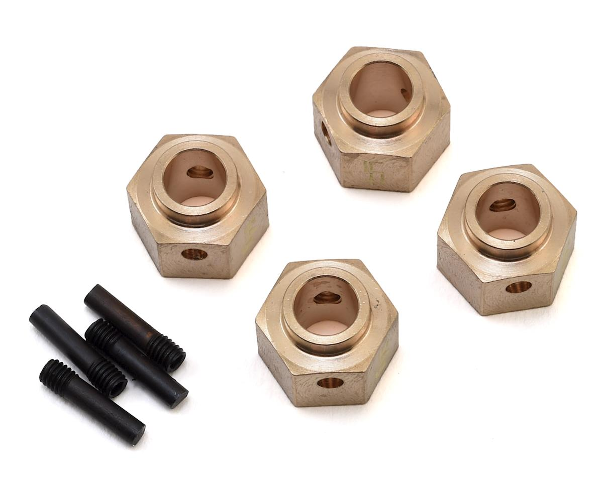 Traxxas TRX-4 12mm Brass Hex Adapter w/8mm Offset (4) by Yeah Racing