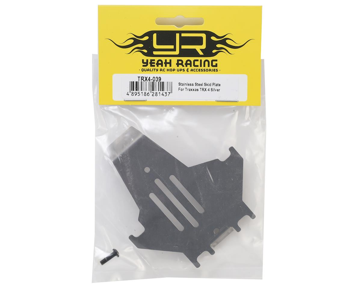 Yeah Racing Traxxas TRX-4 Stainless Steel Skid Plate (Silver)