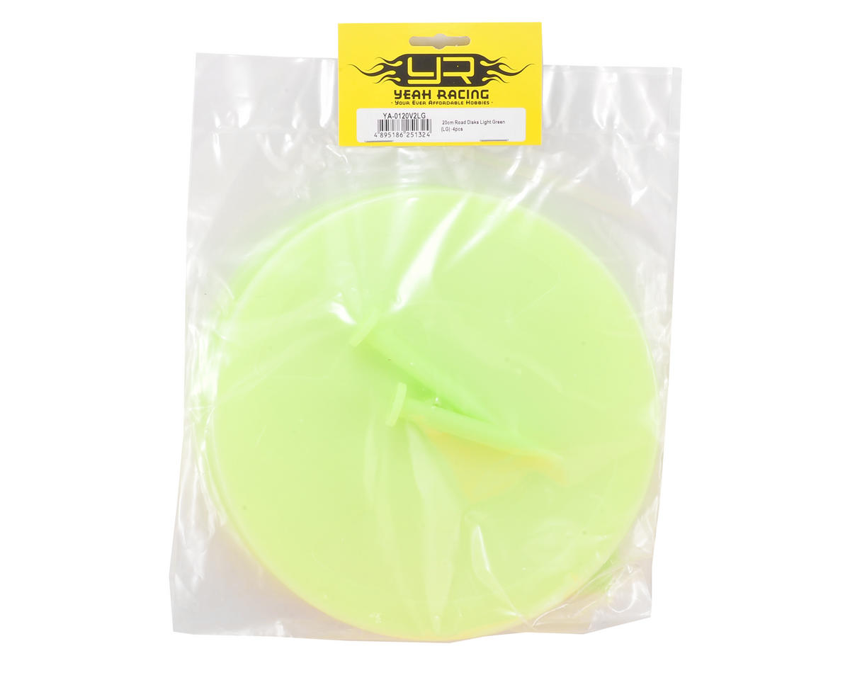 Yeah Racing 20cm Corner Marker Track Road Disks (Green) (4)