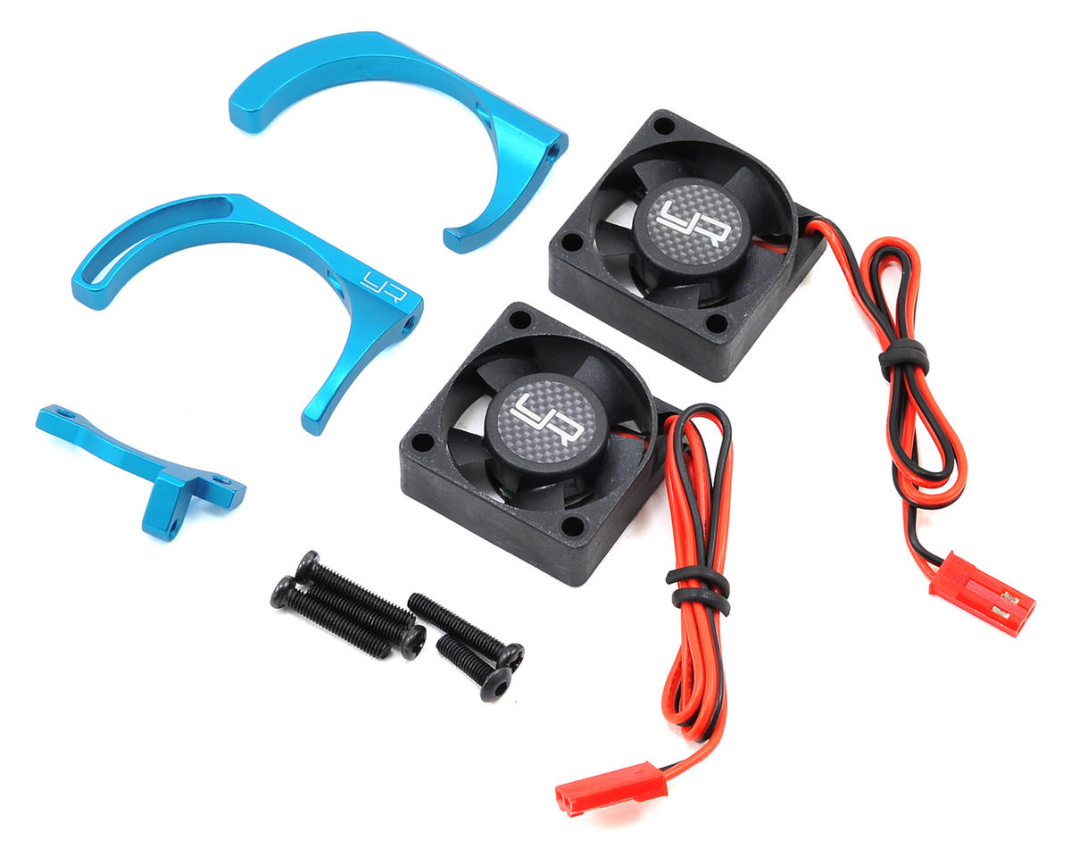 Yeah Racing 540 Twin Fan Adjustable Heat Sink w/2 Fans (Blue)