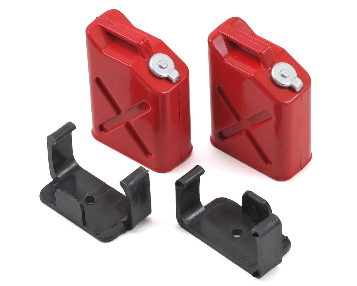 "Yeah Racing 1/10 Crawler Scale ""Jerry Can"" Accessory Set (Fuel Cans) (Red)"