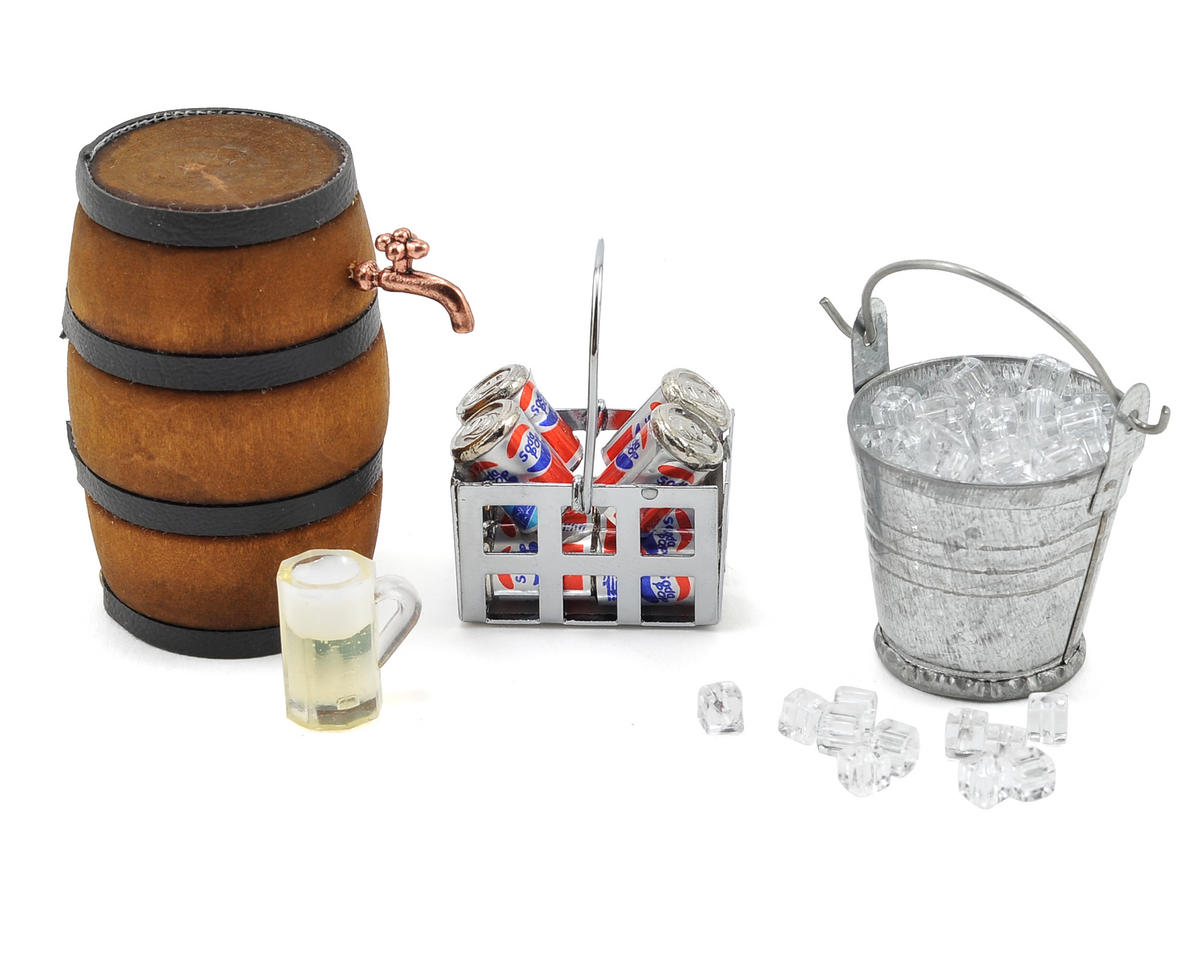 Scale Crawler Camping Set w/Ice, Bucket, Coke, Crate, Barrel by Yeah Racing