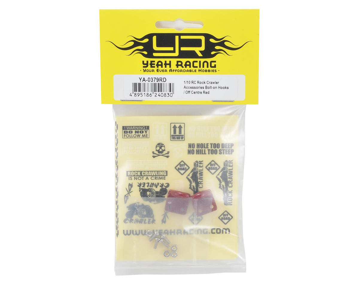 Yeah Racing 1/10 Crawler Scale Accessory Set (Red) (Off Center Hooks)