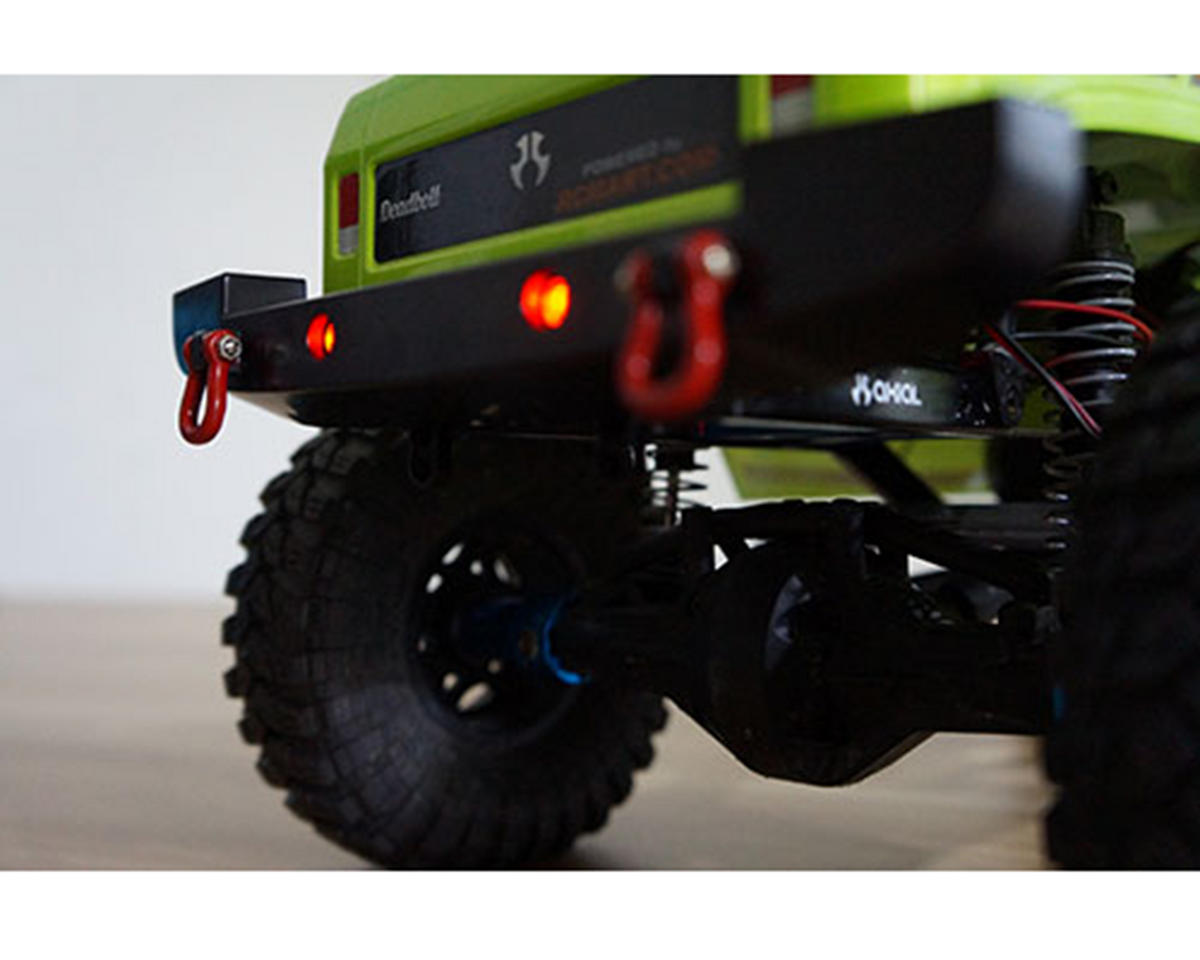 Yeah Racing Plastic SCX10 Front & Rear Bumper Set w/Shackles & LEDs
