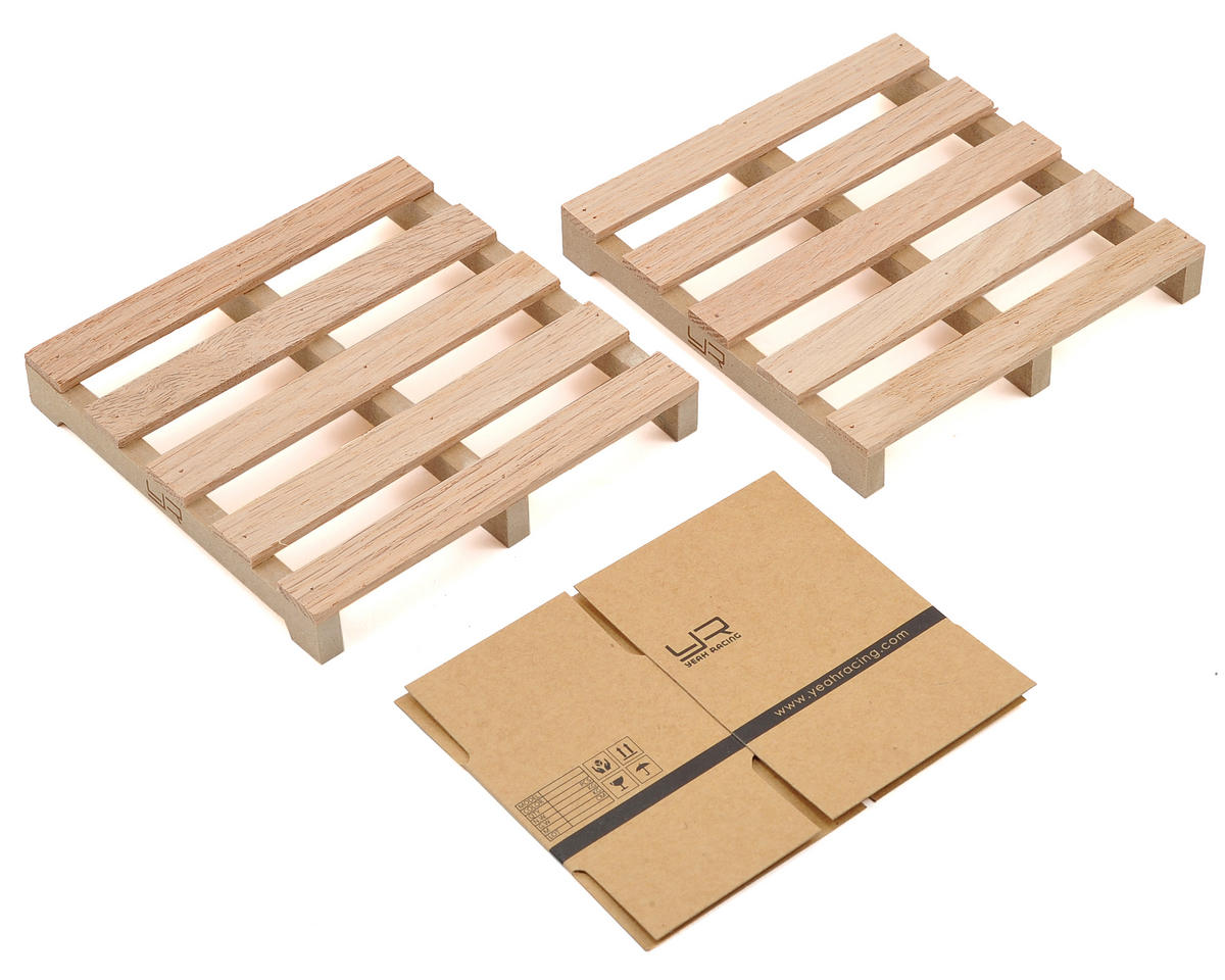 Yeah Racing 1/10 Crawler Scale Accessory Set (Wooden Loading Pallets & Box)