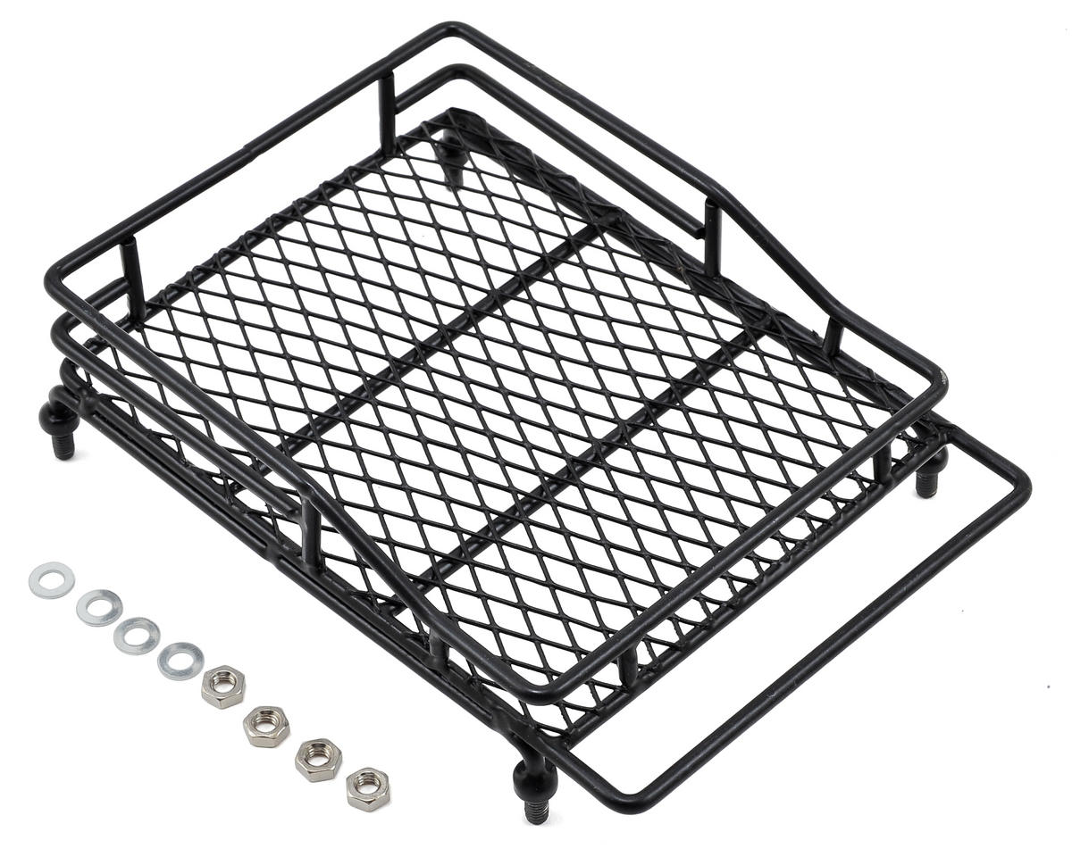 Yeah Racing 1/10 Crawler Scale Metal Mesh Roof Rack Luggage Tray (14x10x3.5cm)