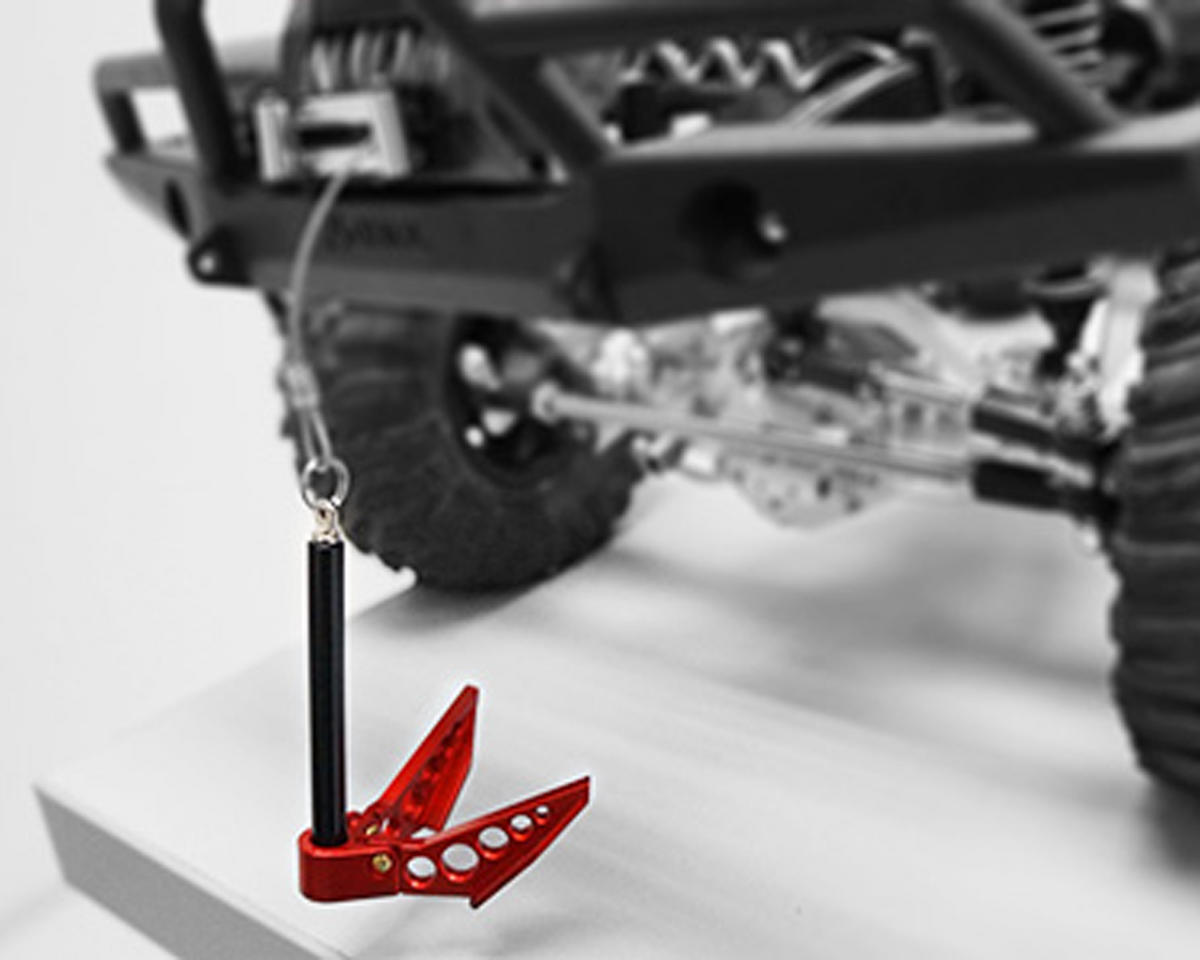 Yeah Racing Aluminum 1/10 Crawler Scale Accessory (Foldable Winch Anchor) (Red)