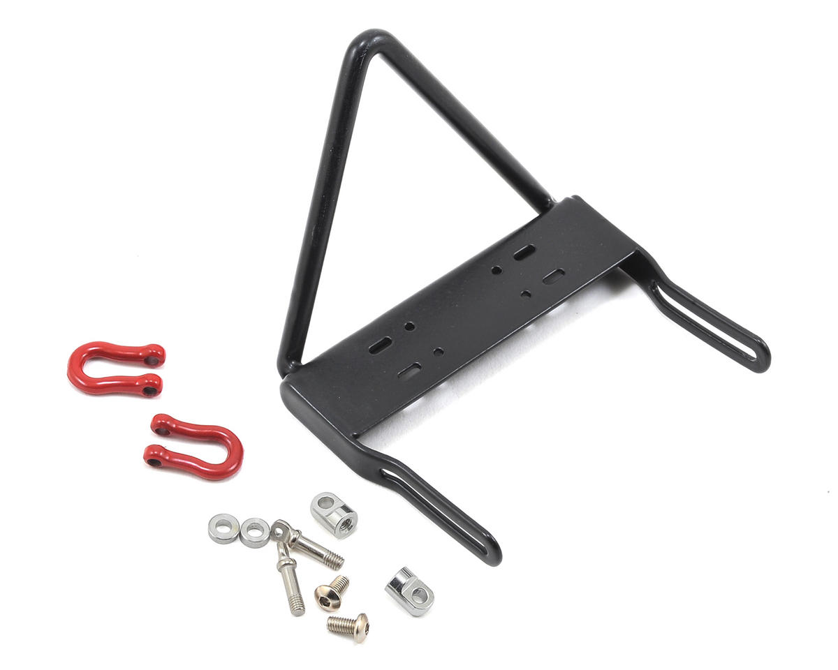 "Yeah Racing SCX10 Steel Front ""Stinger"" Bumper w/Winch Mount & Shackles"