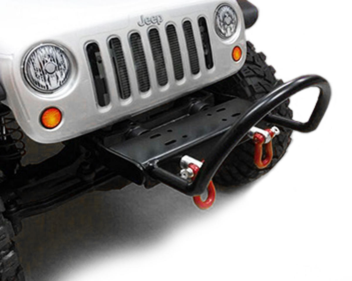 "Yeah Racing SCX10 Steel Front ""Stubby"" Bumper w/Winch Mount & Shackles"