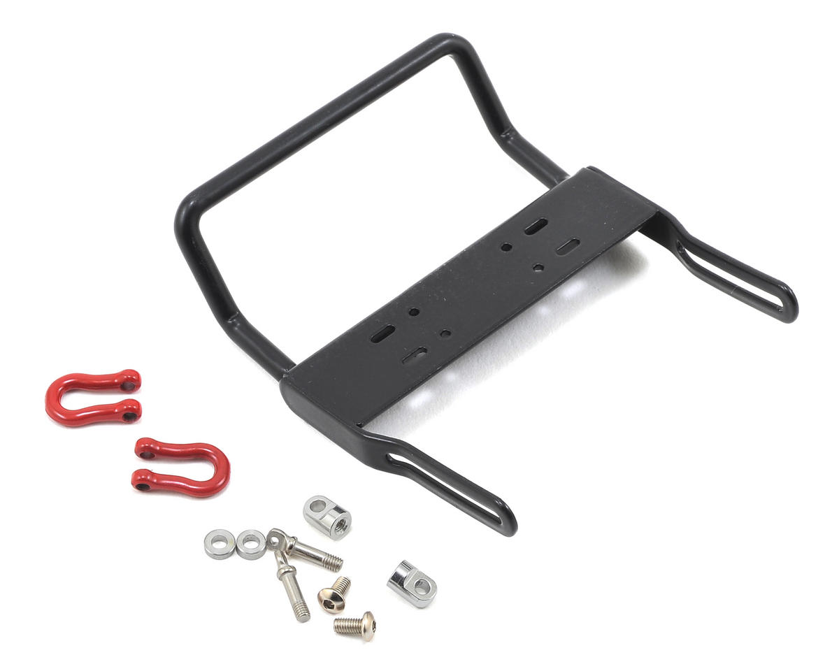 "Yeah Racing SCX10 Steel Front ""Narrow"" Bumper w/Winch Mount & Shackles"