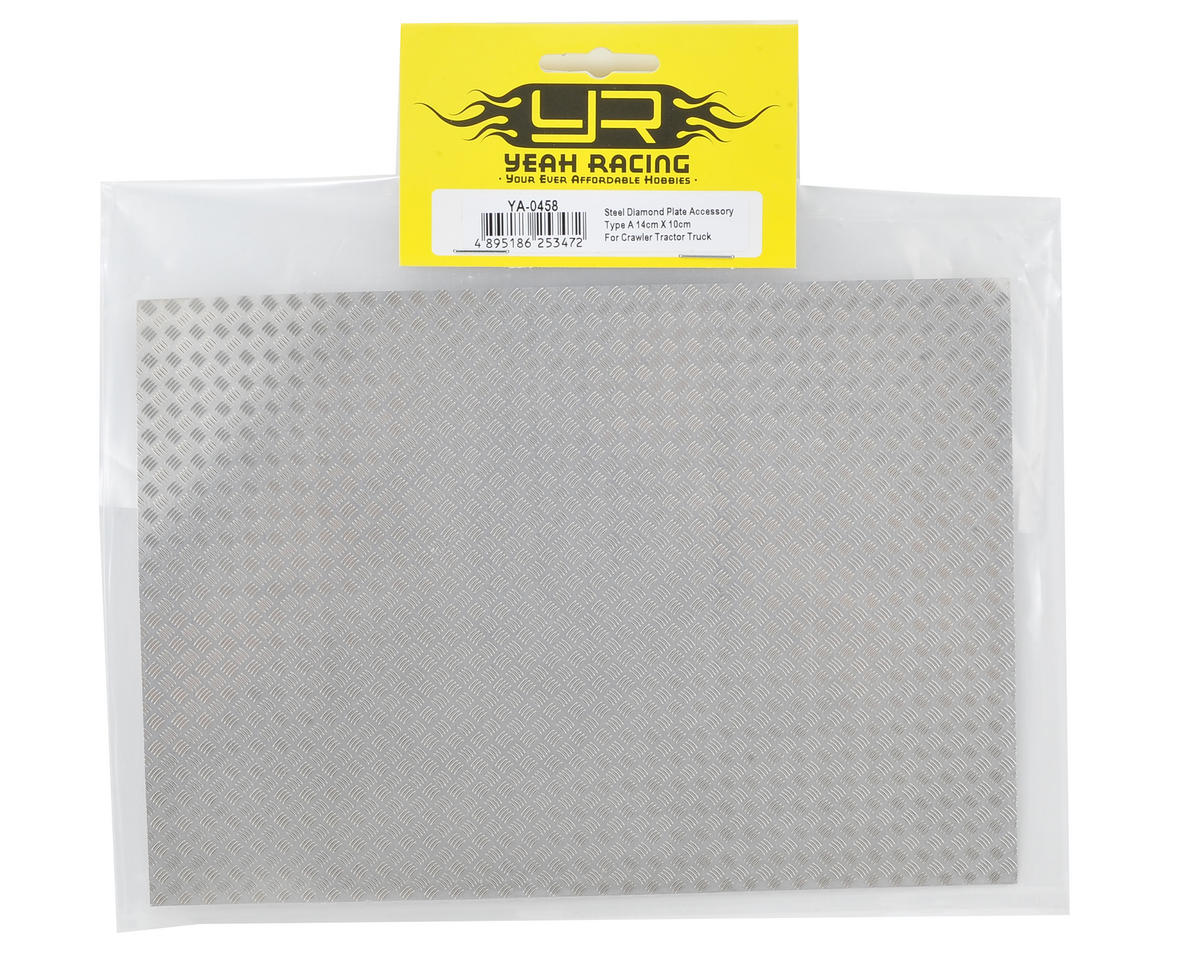 Yeah Racing 1/10 Crawler Steel Diamond Plate Accessory (14x20cm) (Type A)