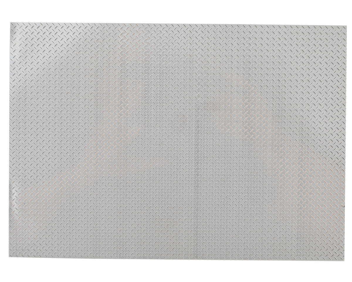 SCRATCH & DENT: Yeah Racing 1/10 Crawler Steel Diamond Plate Accessory (14x20cm) (Type B)