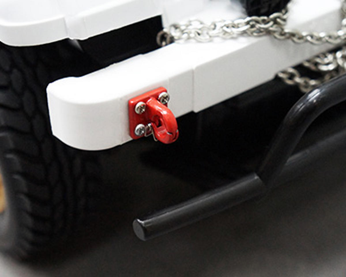 Four Bolt Tow Ring (Red) (2) by Yeah Racing