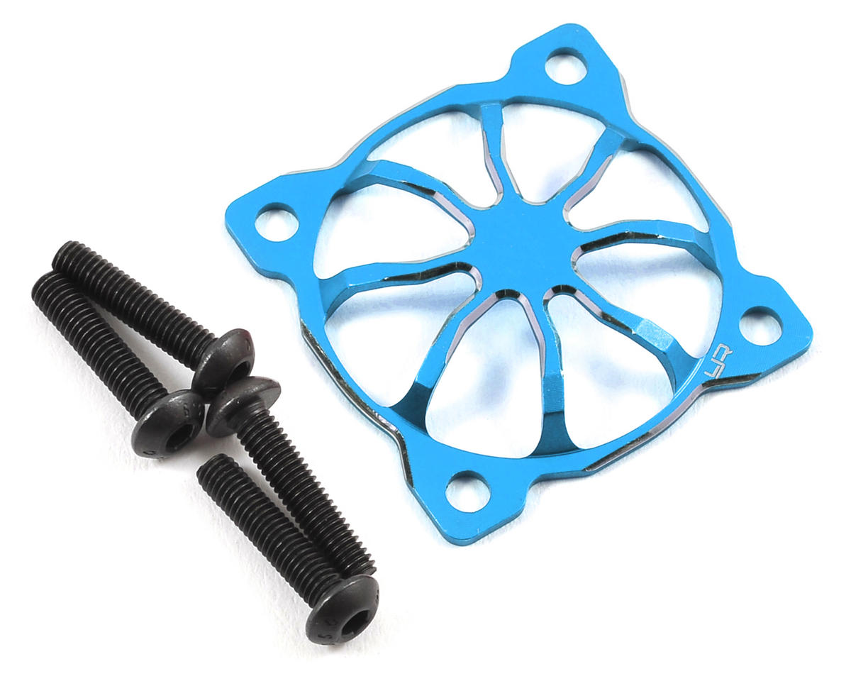 "30x30mm ""3D Spider"" Aluminum Fan Protector (Blue) by Yeah Racing"
