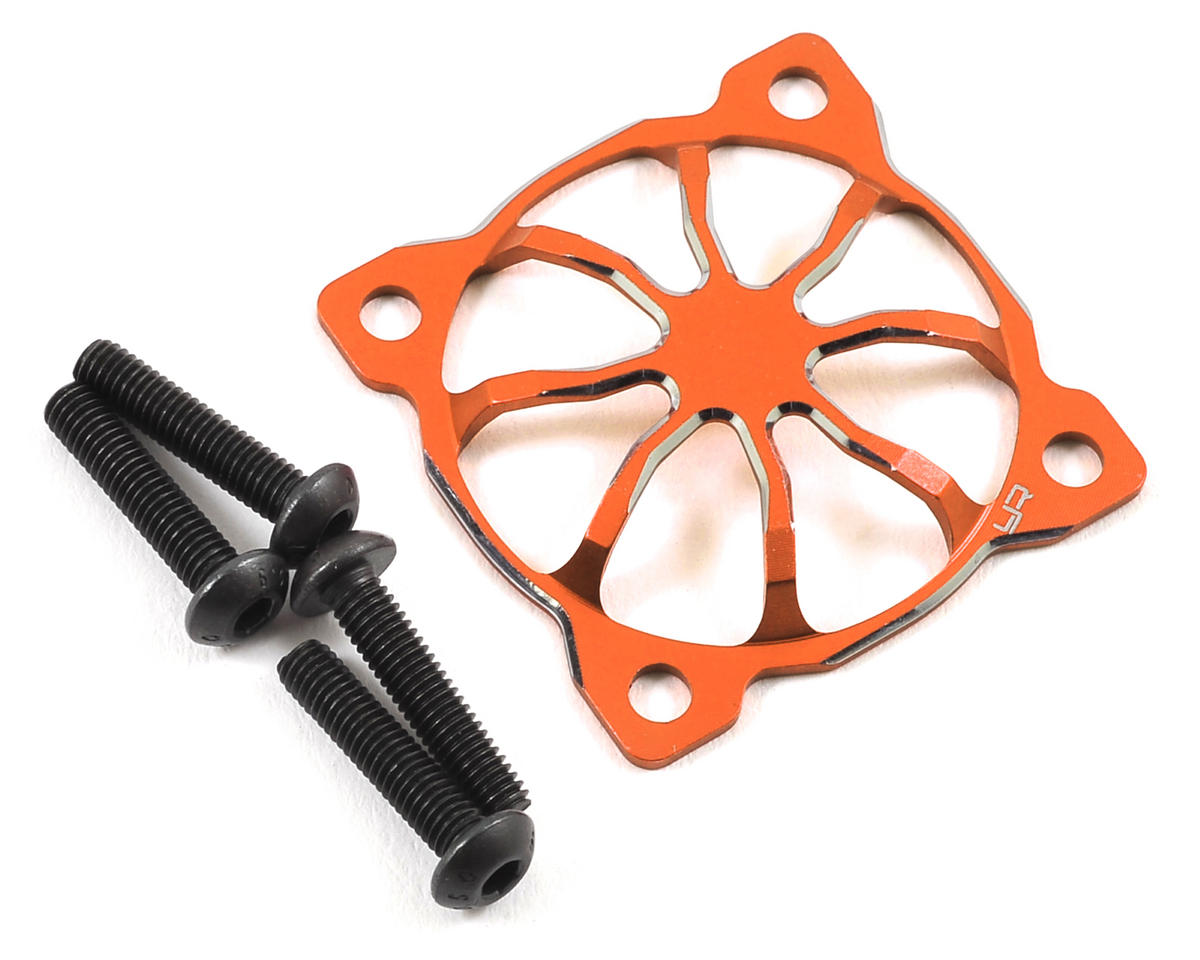 "Yeah Racing 30x30mm ""3D Spider"" Aluminum Fan Protector (Orange)"