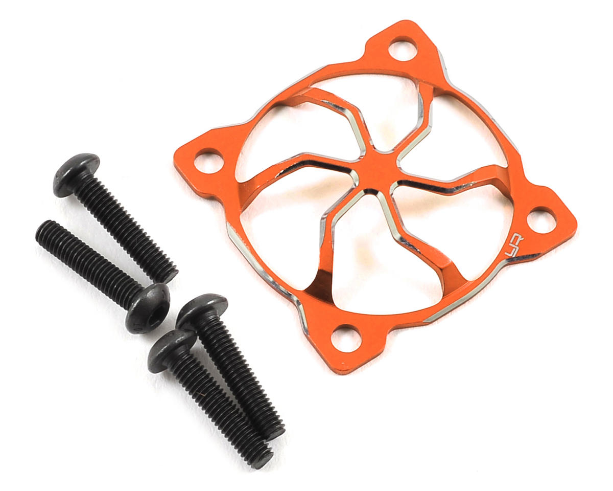 "30x30mm ""3D Whirlwind"" Aluminum Fan Protector (Orange) by Yeah Racing"