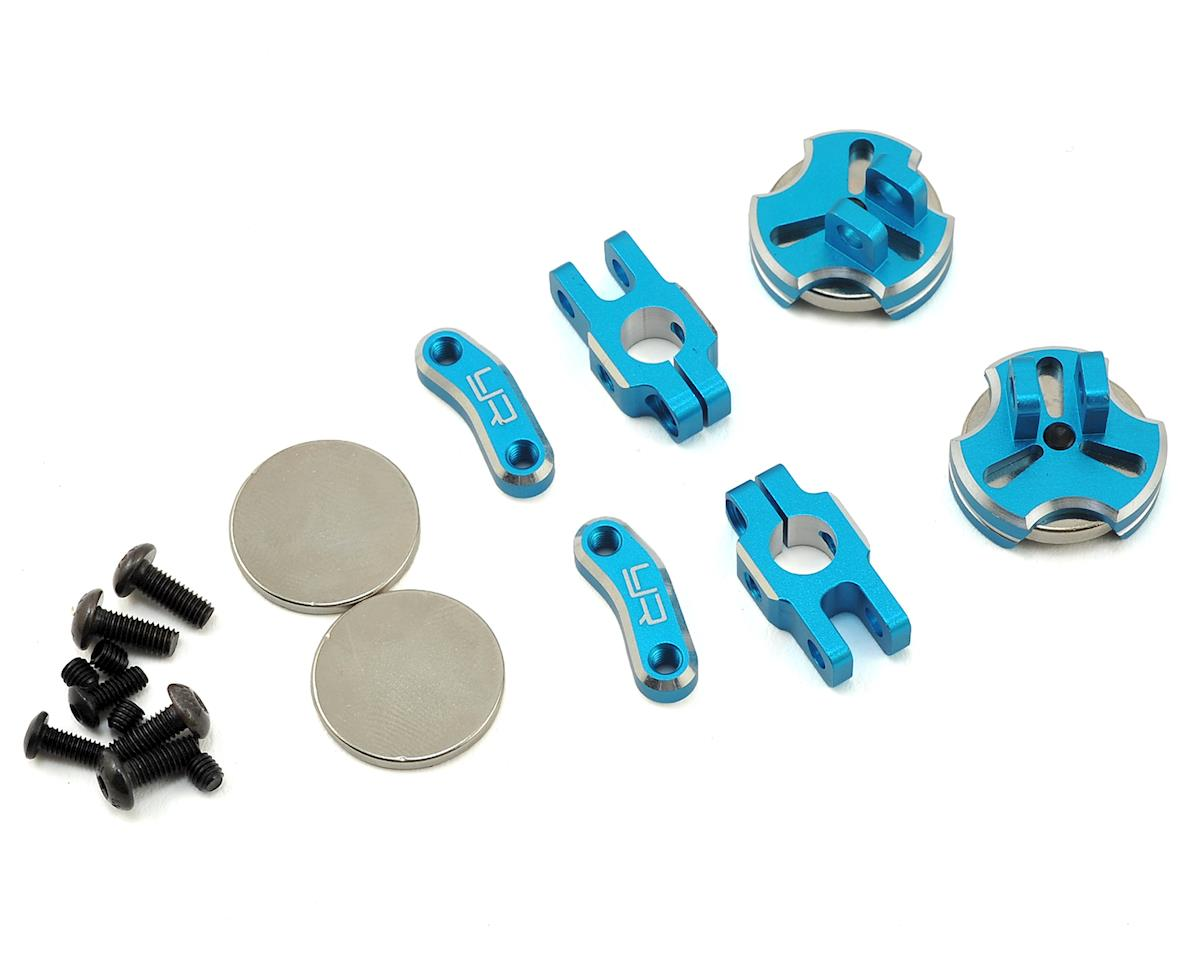 Aluminum CNC Magnetic Invisible Body Mount (Blue) by Yeah Racing