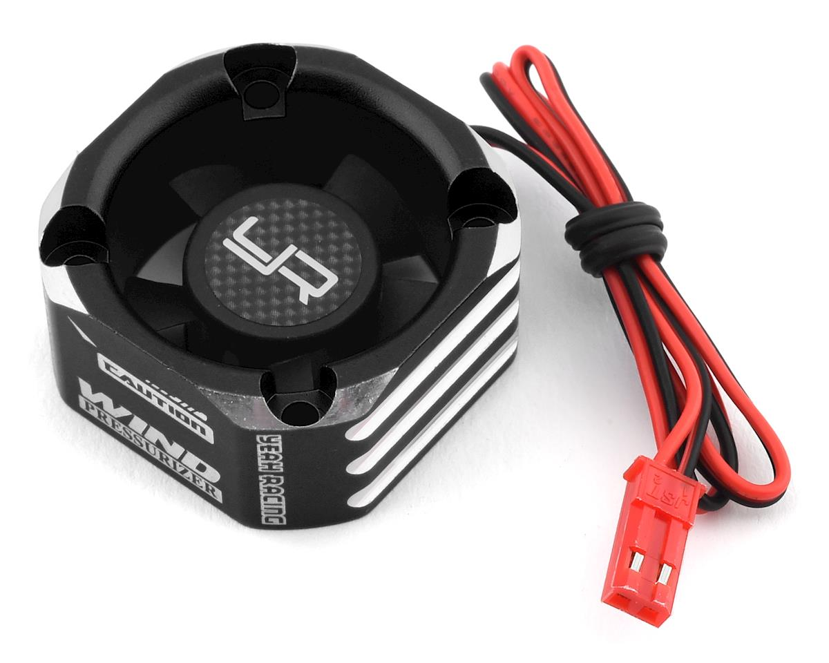 Yeah Racing 30x30mm Aluminum Case Booster Fan (Black)