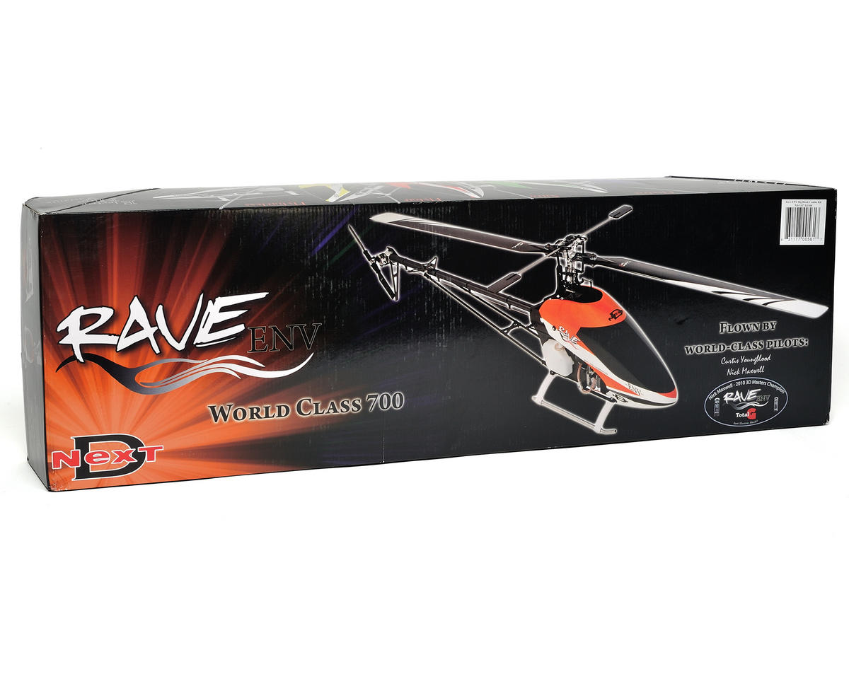 "Curtis Youngblood Rave ENV ""Big Block"" Flybarless Nitro Helicopter Combo w/Steel Gears & Blades"