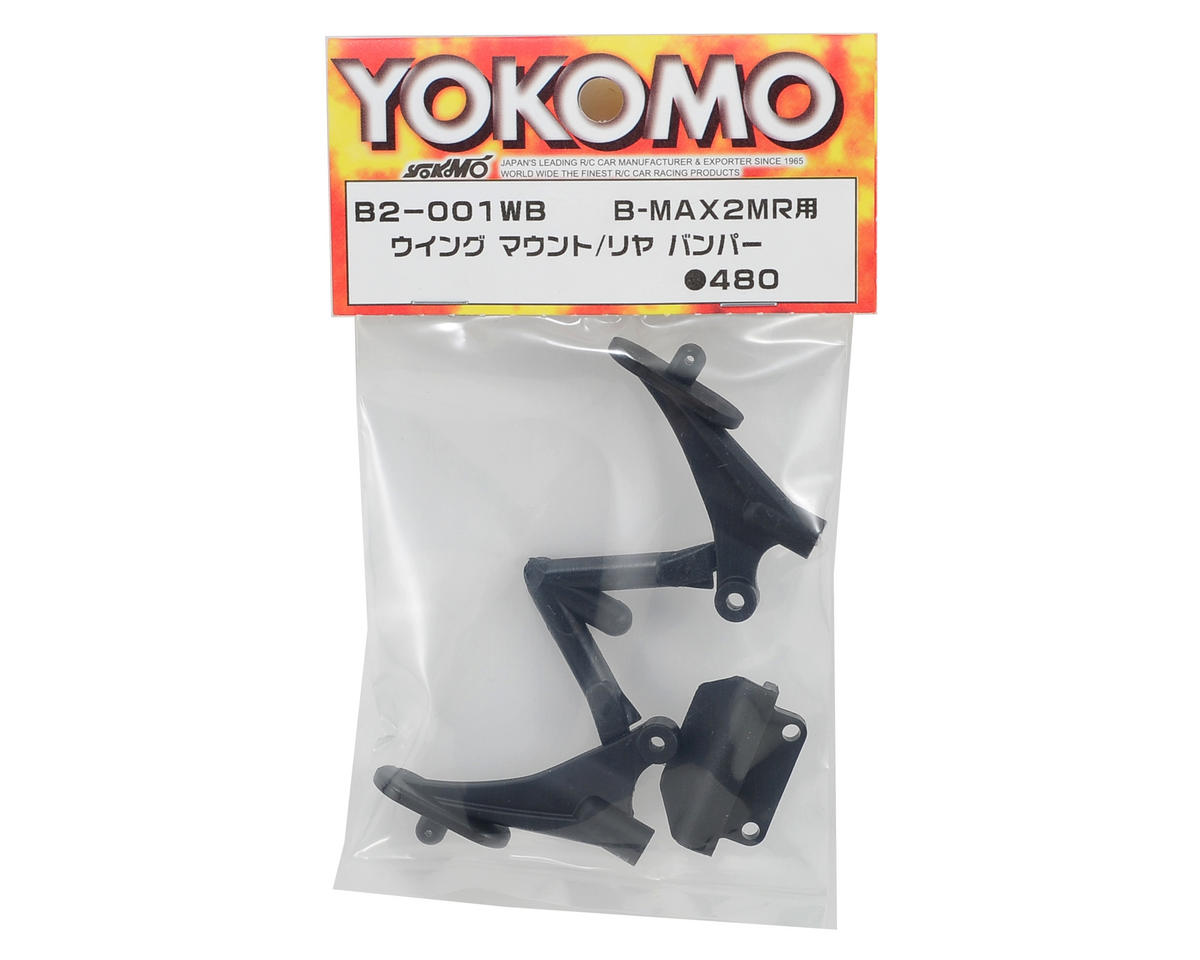 Yokomo Wing Mount & Rear Bumper Set (Mid Motor)