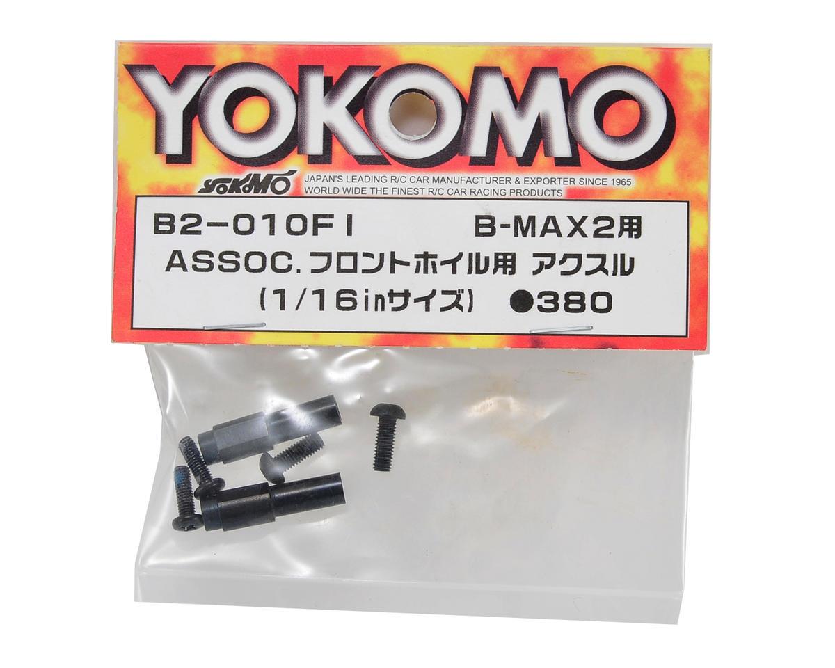 "Yokomo 1/16"" Associated Front Wheel Axle Set (2)"