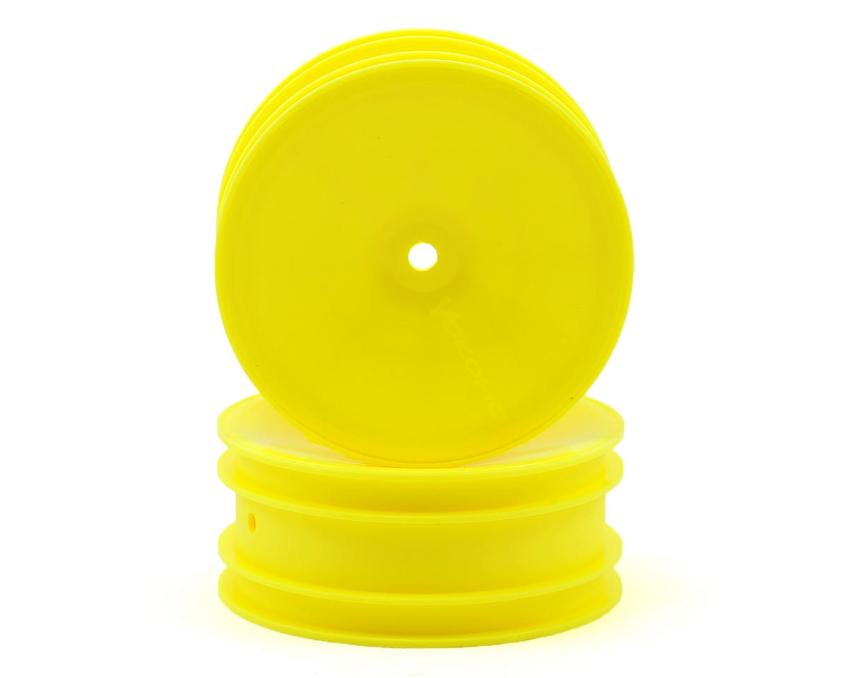 12mm Hex 2WD Front Buggy Wheels (Yellow) (2) (YZ-2/B-MAX2) by Yokomo