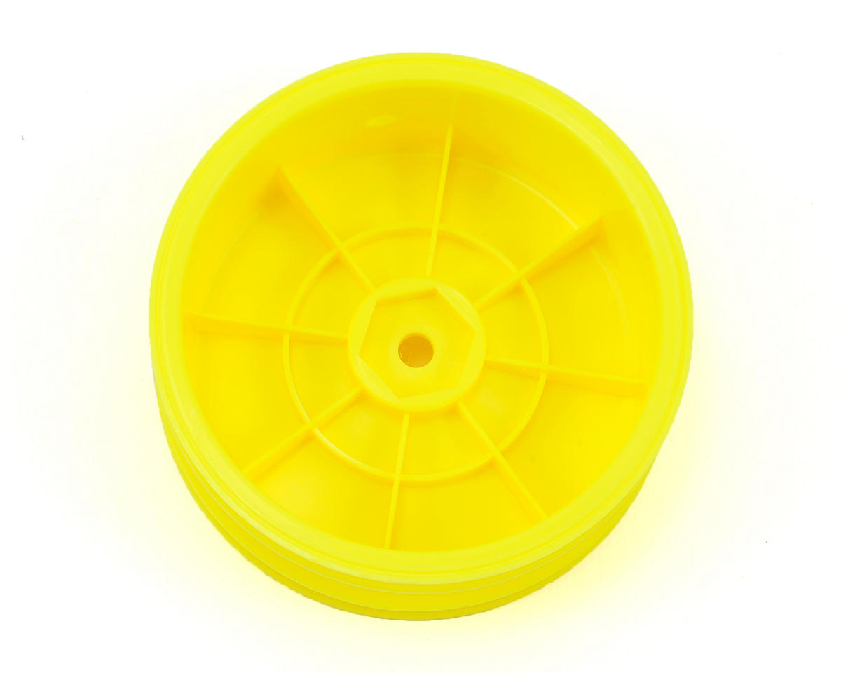 Yokomo 12mm Hex 2WD Front Buggy Wheels (Yellow) (2) (YZ-2/B-MAX2)