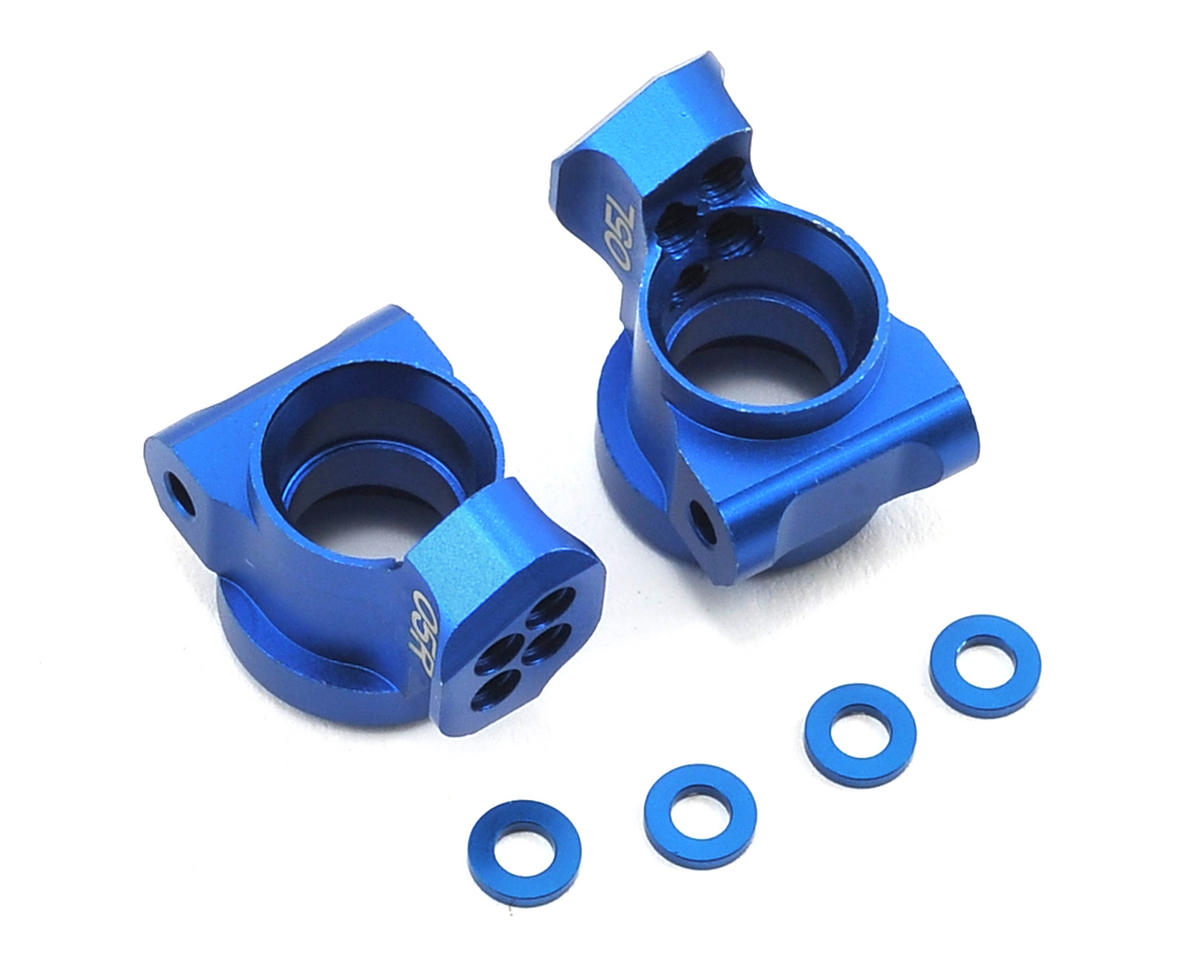 Yokomo 0.5° Aluminum Rear Hub Carrier (Blue) (2)