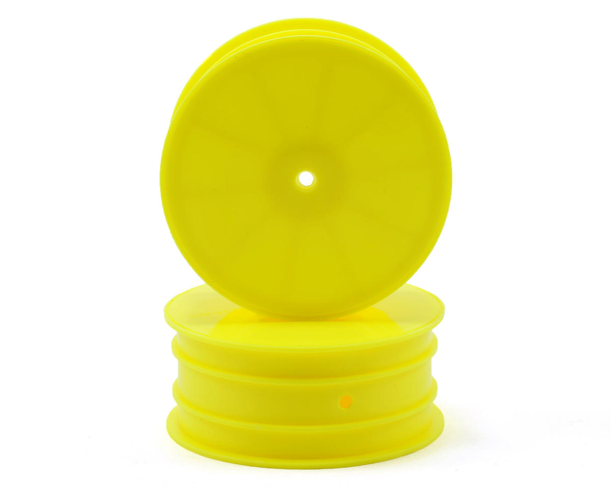 12mm Hex 1/10 4WD Front Buggy Wheels (Yellow) (2) (YZ-4/B-MAX4) by Yokomo