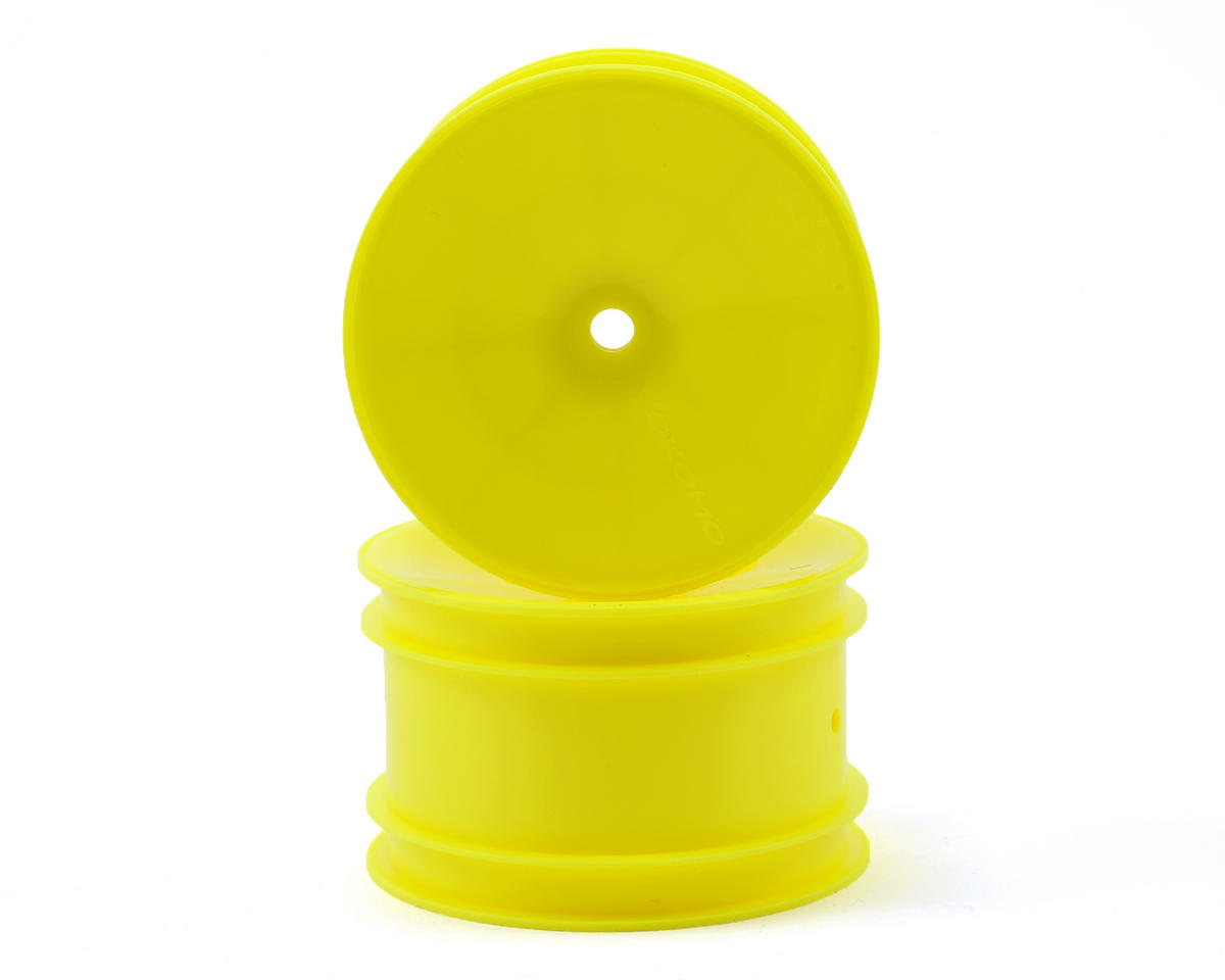 12mm Hex 1/10 Rear Buggy Wheels (Yellow) (2) (YZ-2/YZ-4/B-MAX) by Yokomo