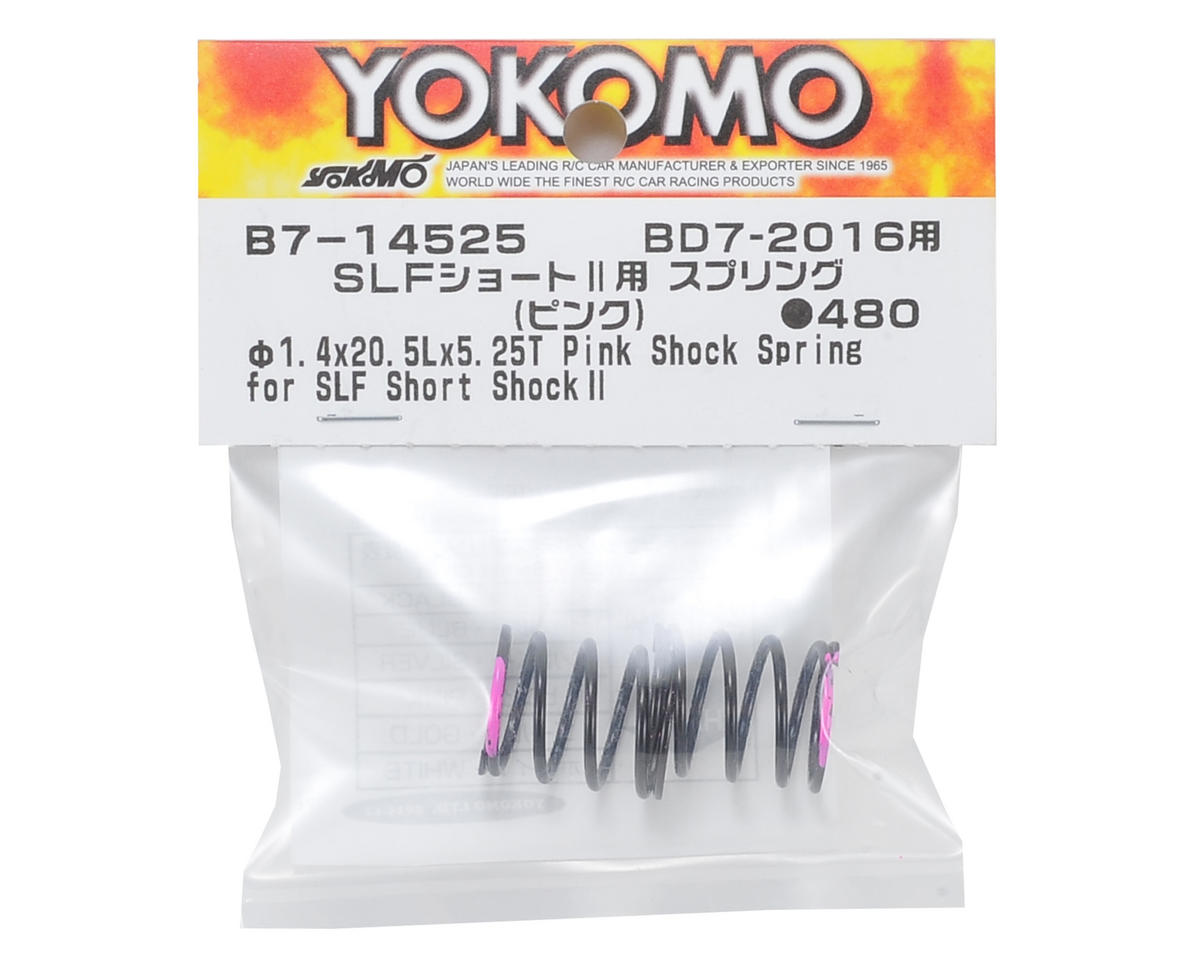 Yokomo Shock Spring Set (Pink) (for SLF Short Shock II)
