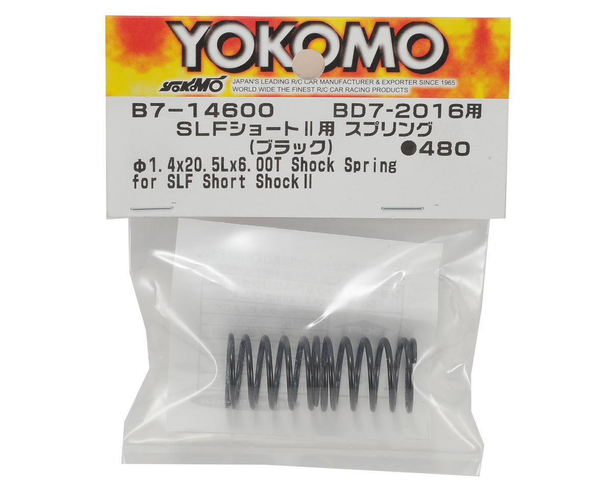 Yokomo Shock Spring Set (Black) (for SLF Short Shock II)