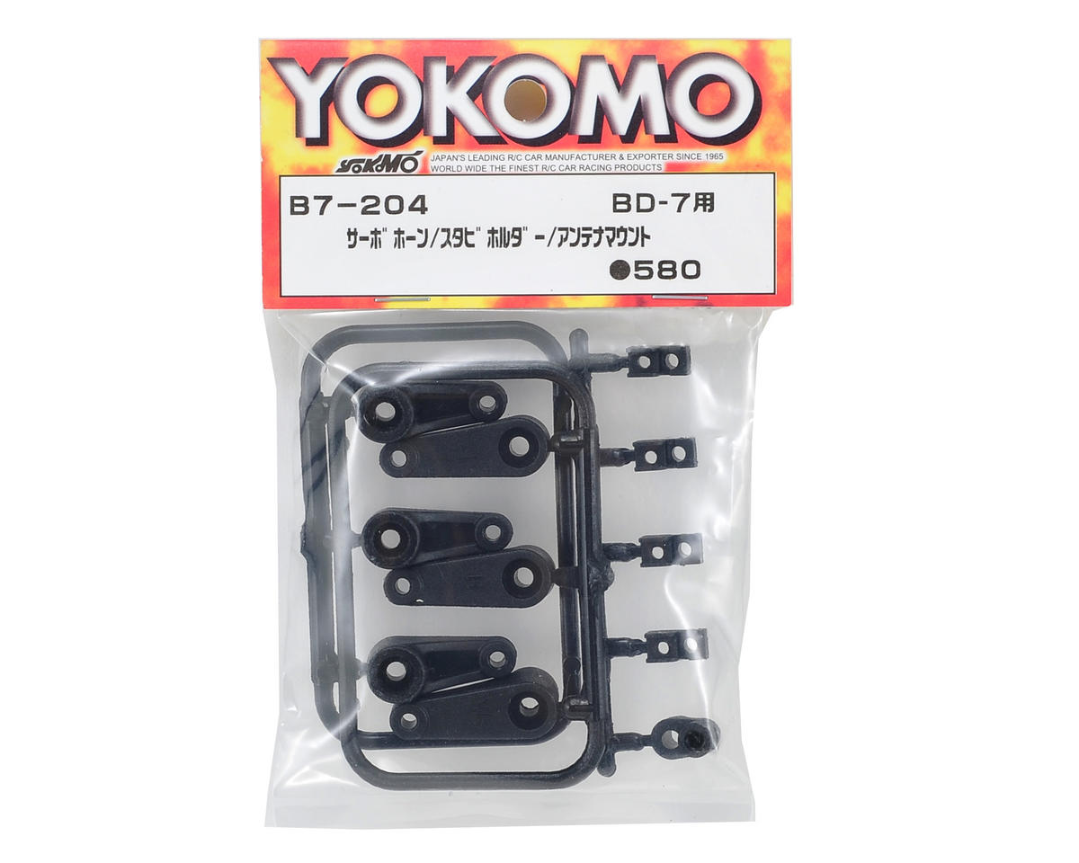 Yokomo Servo Horn, Stabilizer Holder & Antenna Mount Set