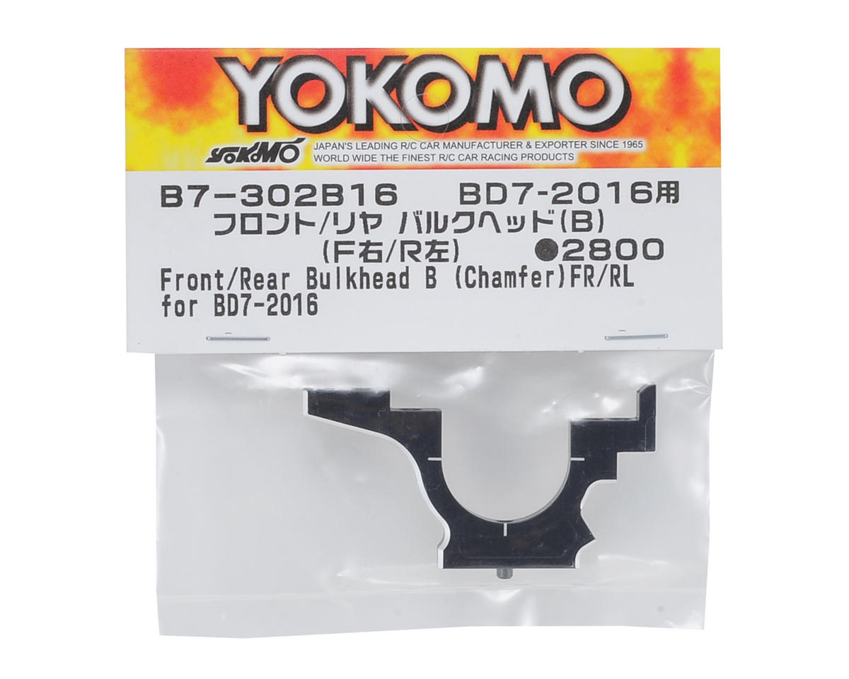 "Yokomo Aluminum Bulkhead ""B"" (Black) Front Right/Rear Left"