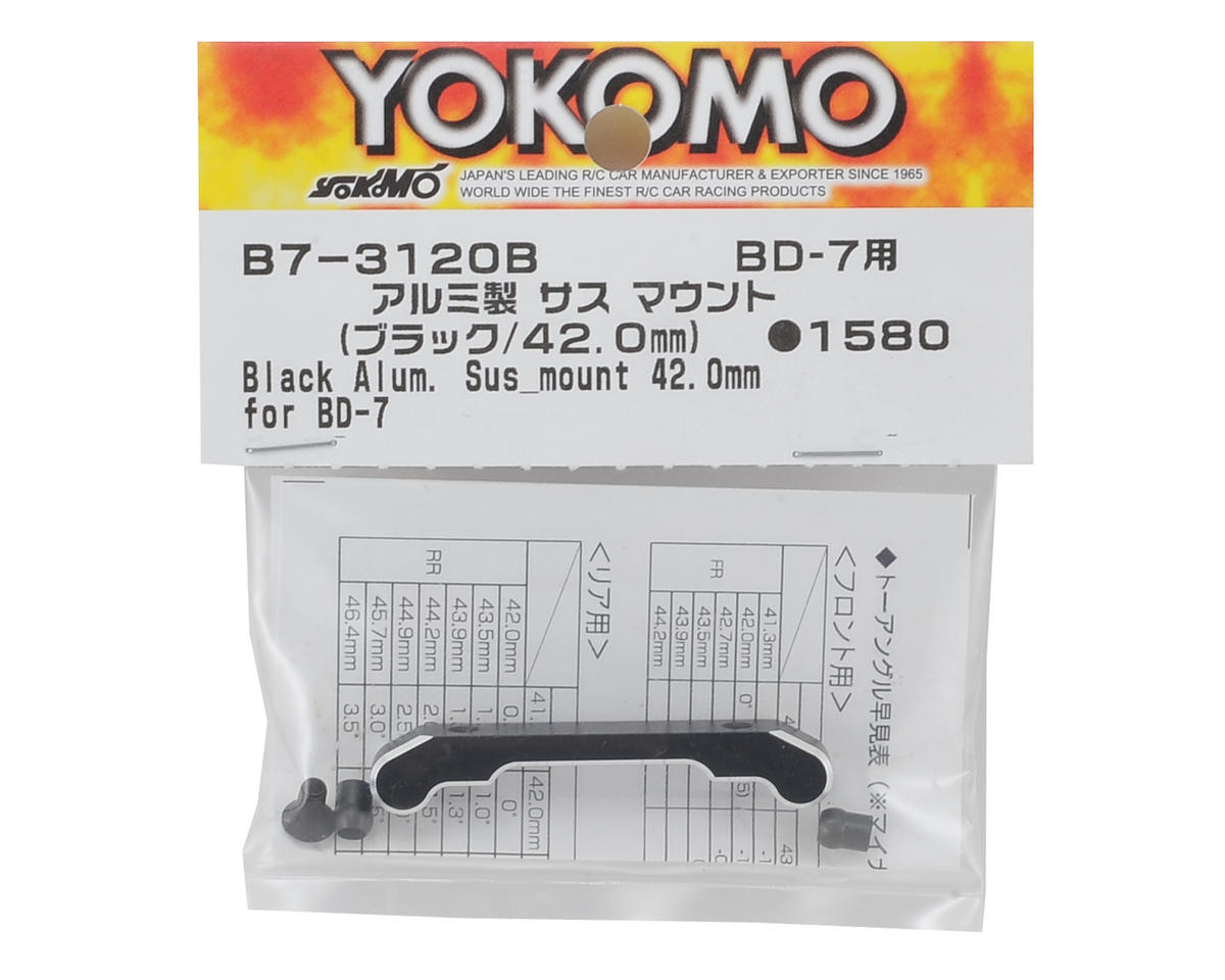 Aluminum Suspension Mount (Black) (42.0mm) by Yokomo