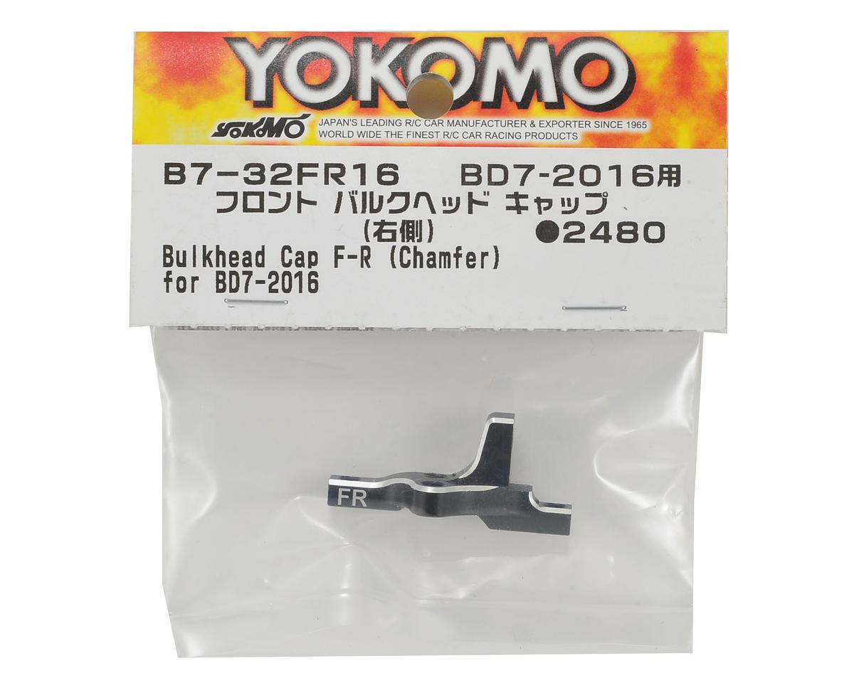 Yokomo Aluminum Front Bulkhead Cap (Right)