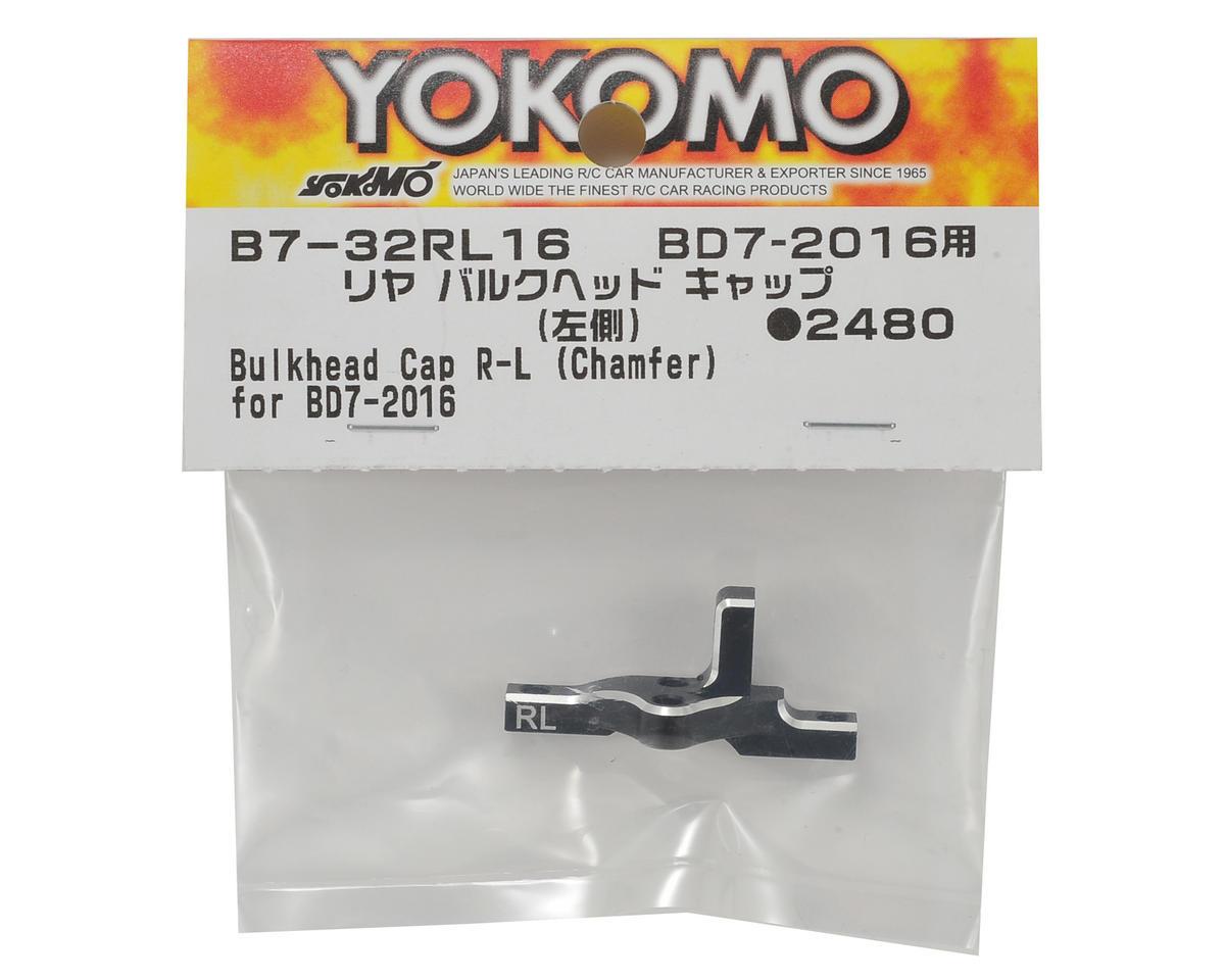 Yokomo Aluminum Rear Bulkhead Cap (Left)