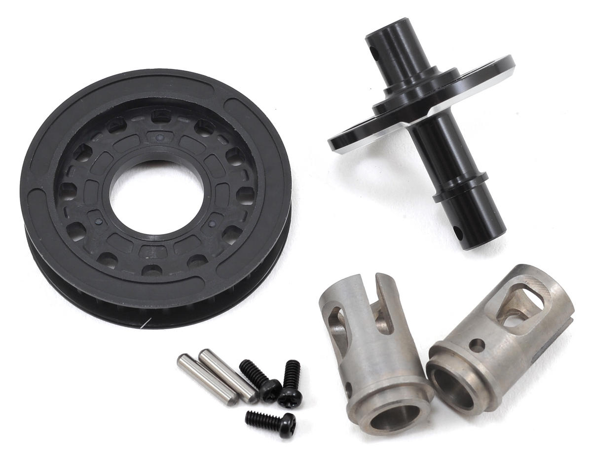 Yokomo Complete Aluminum Solid Axle (Black) (34T)